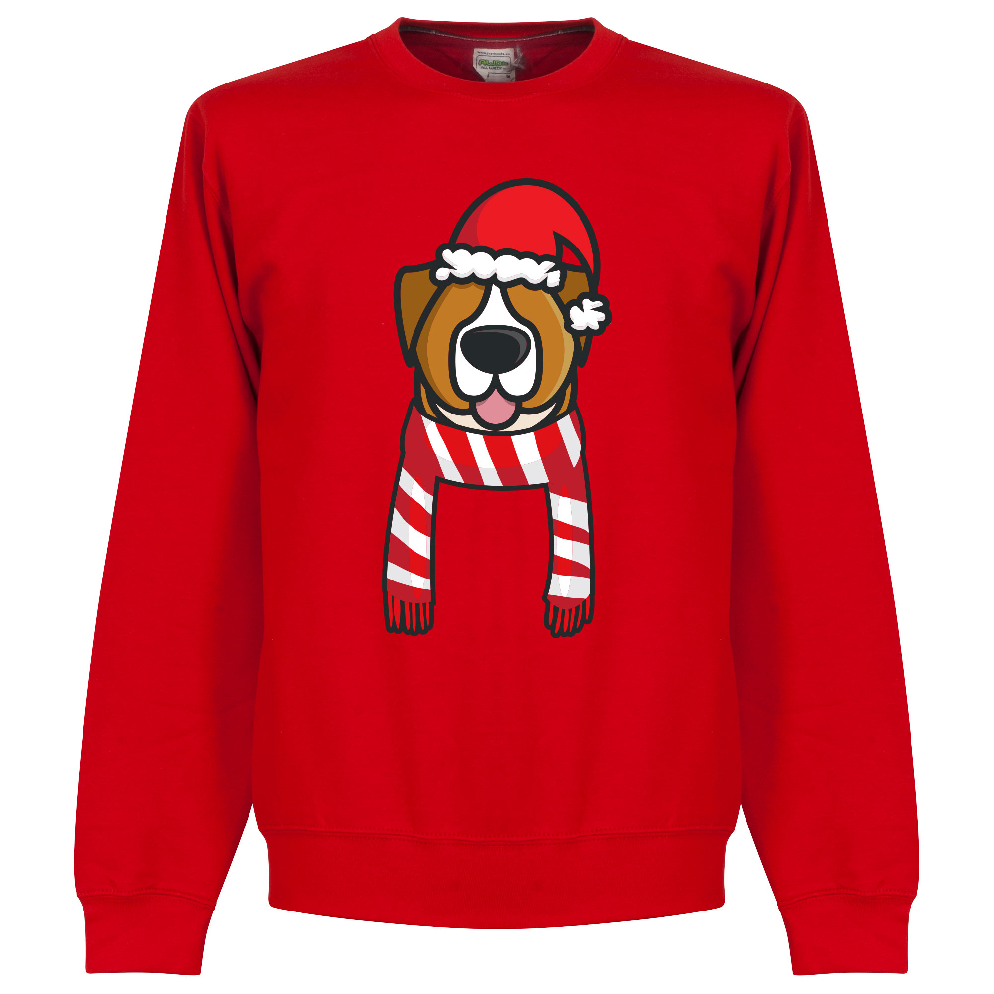 Hond Rood / Wit Supporter kersttrui - Rood - Kinderen