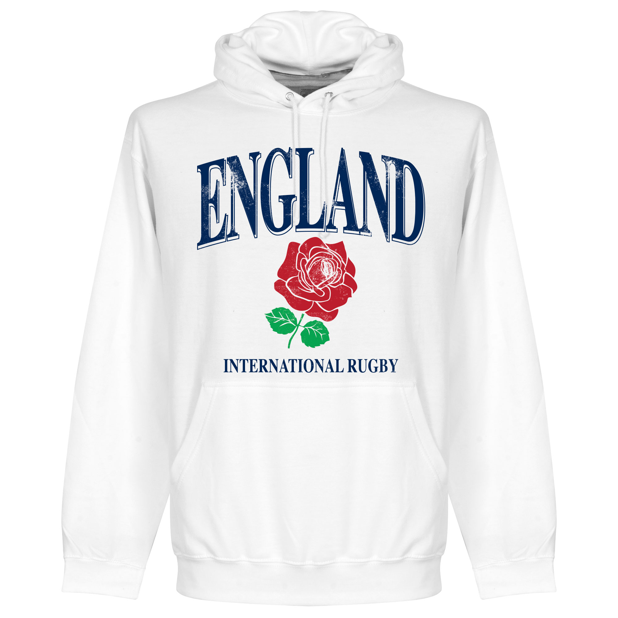 Engeland Rugby Hooded Sweater - Wit