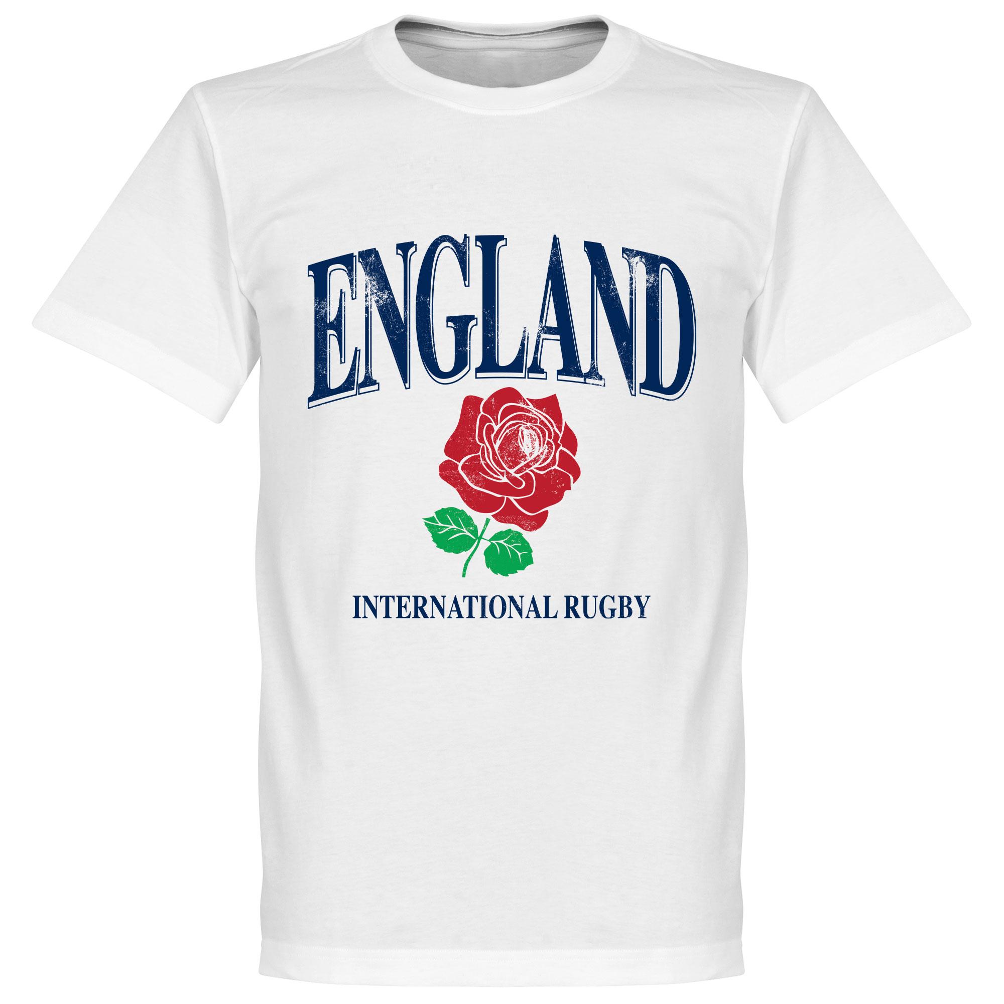 Engeland Rugby T-Shirt - Wit - Kinderen