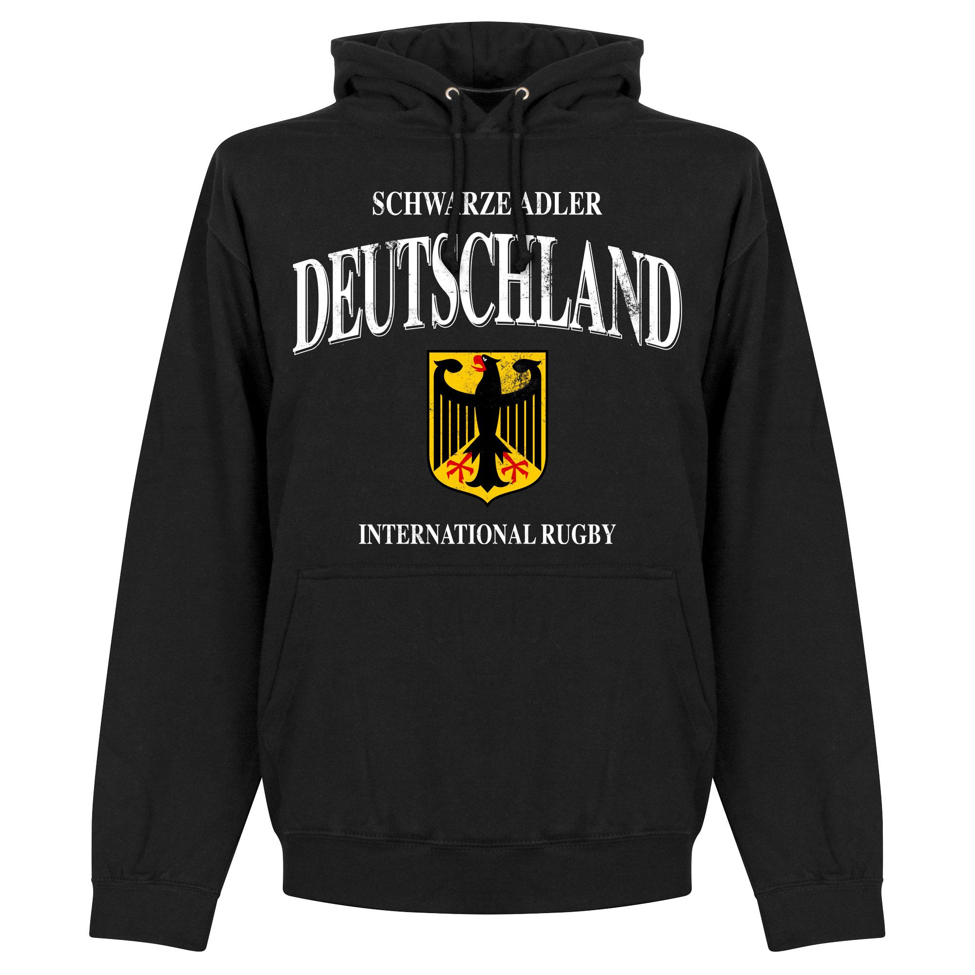 Duitsland Rugby Hoodie - Zwart