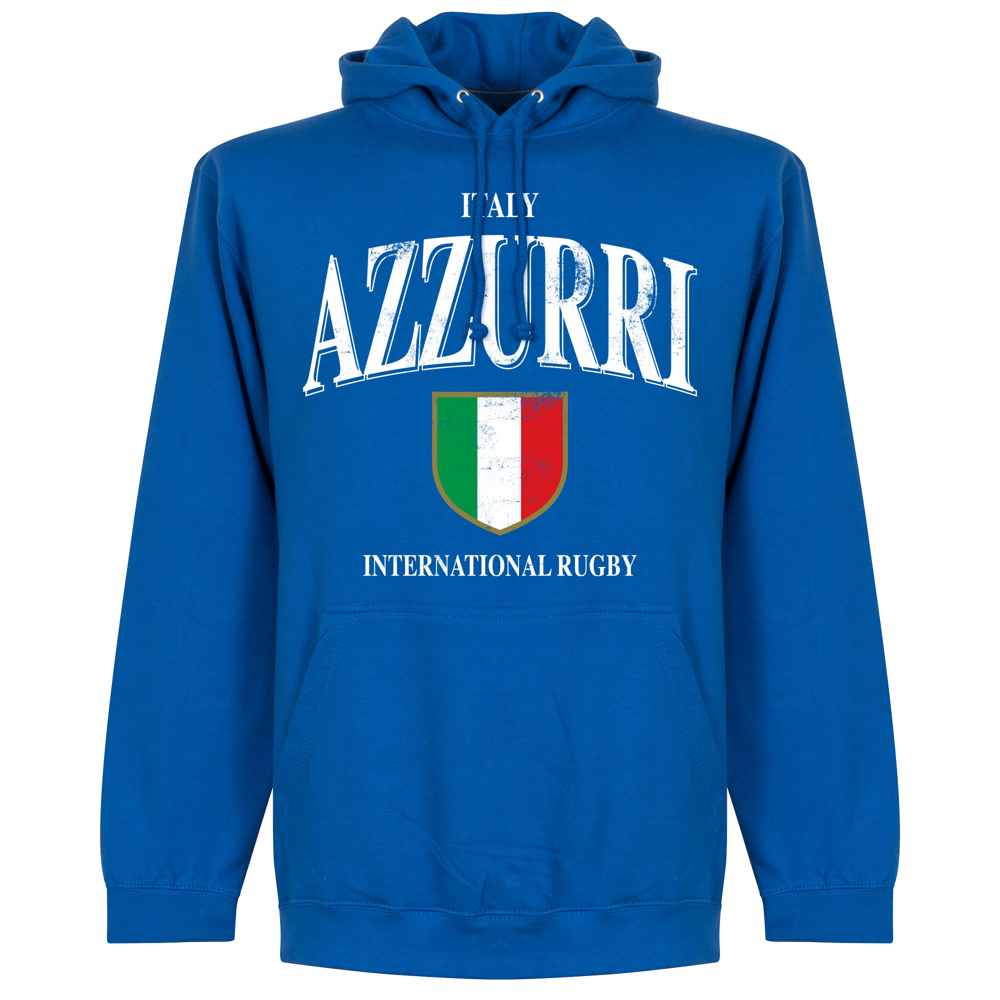 Italië Rugby Hoodie - Blauw