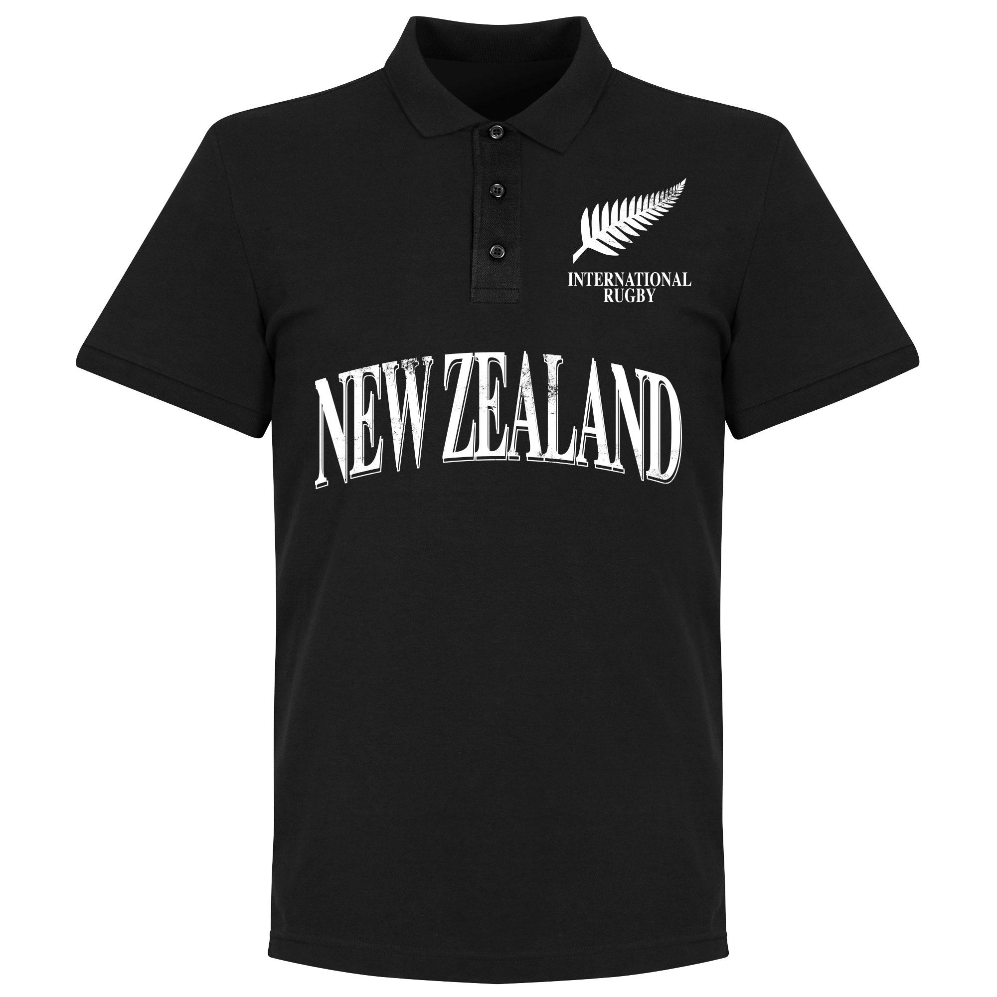 New Zealand Rugby Polo Shirt - Zwart