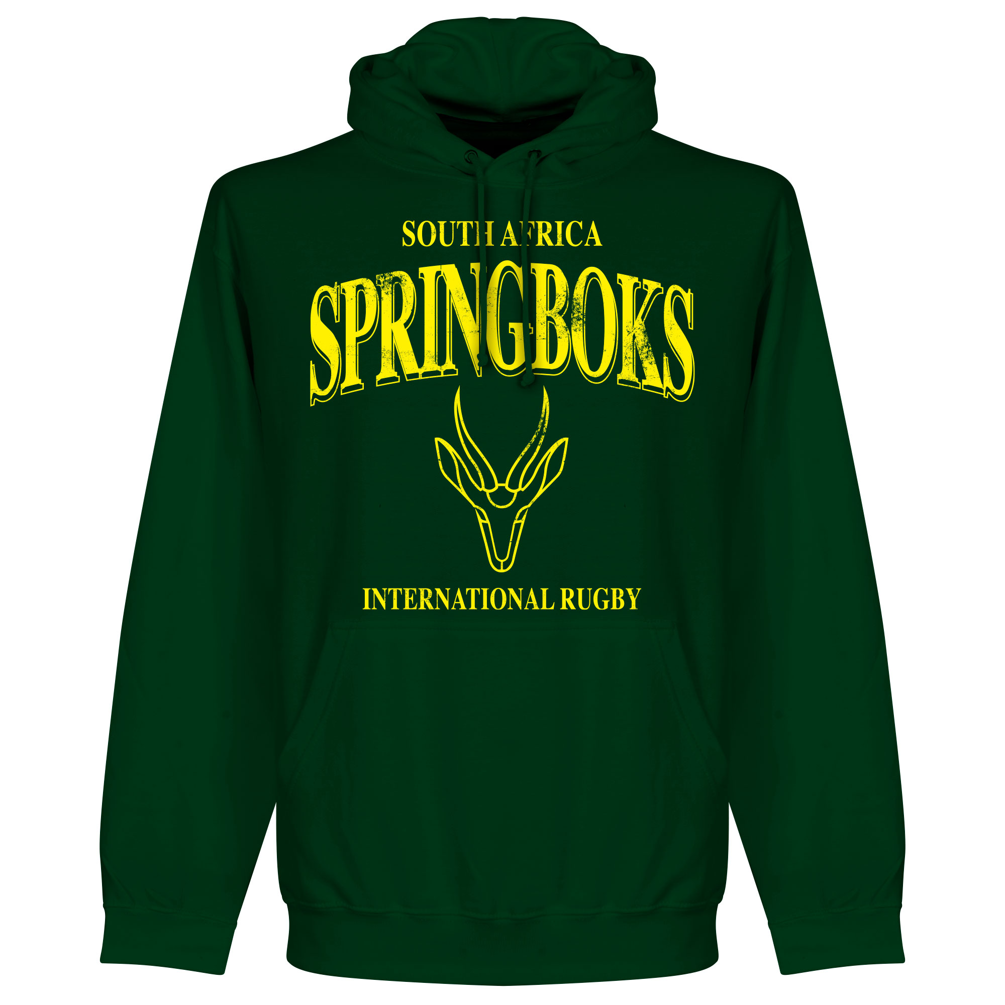 Zuid Afrika Spingboks Rugby Hooded Sweater - Donkergroen