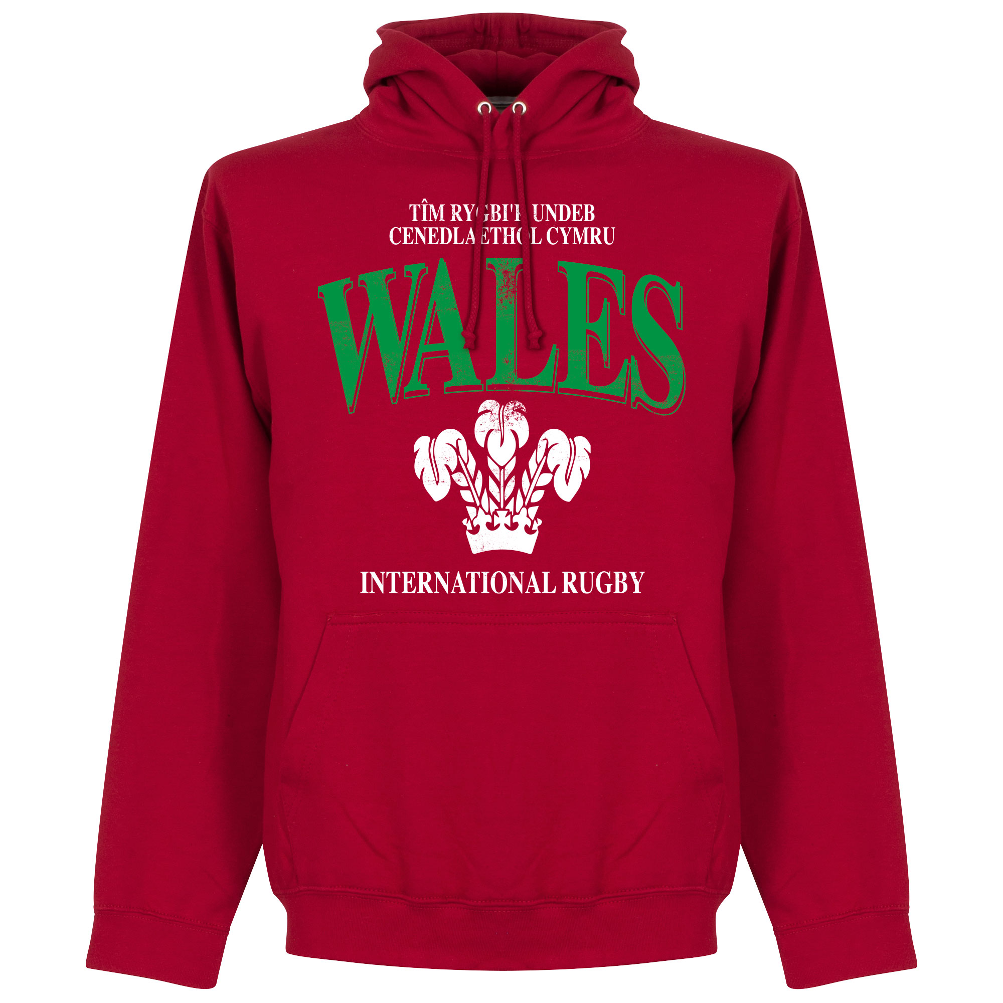Wales Rugby Hooded Sweater - Rood