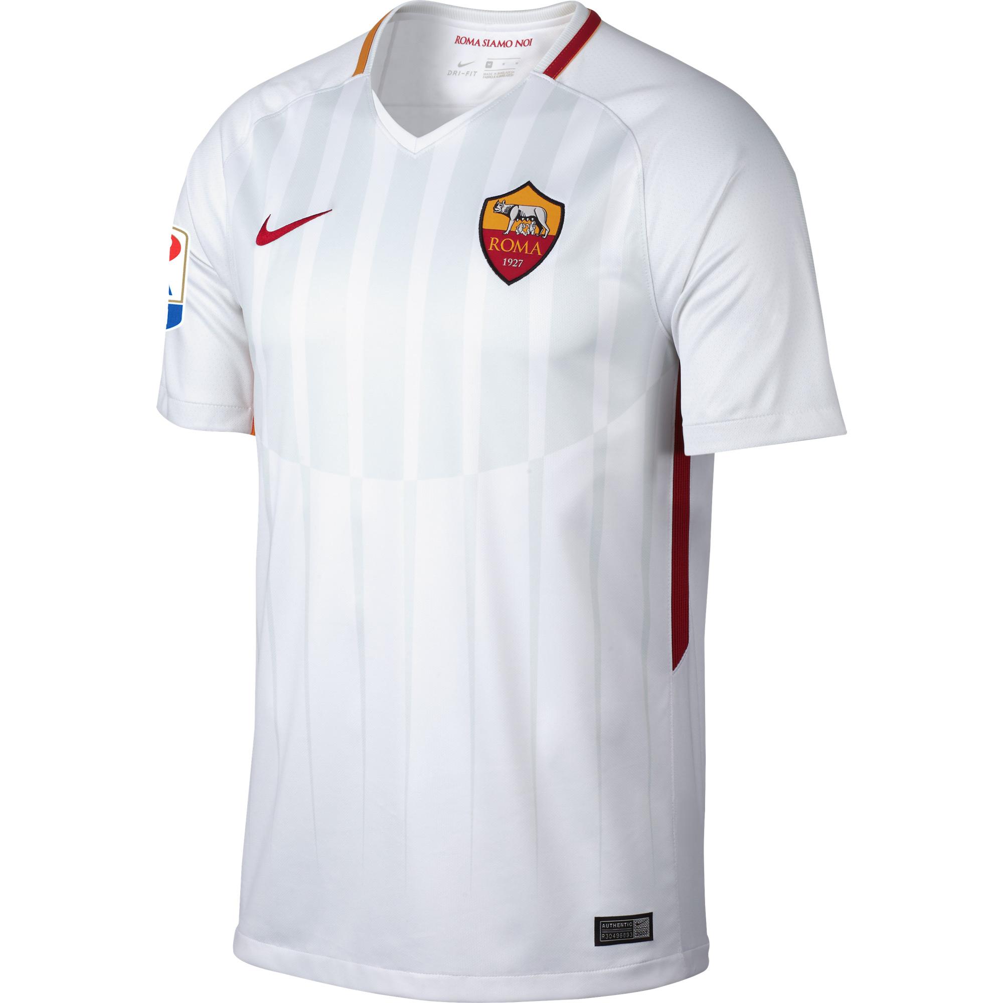 AS Roma Away Shirt 2017 2018 inc Serie A Patch - XL