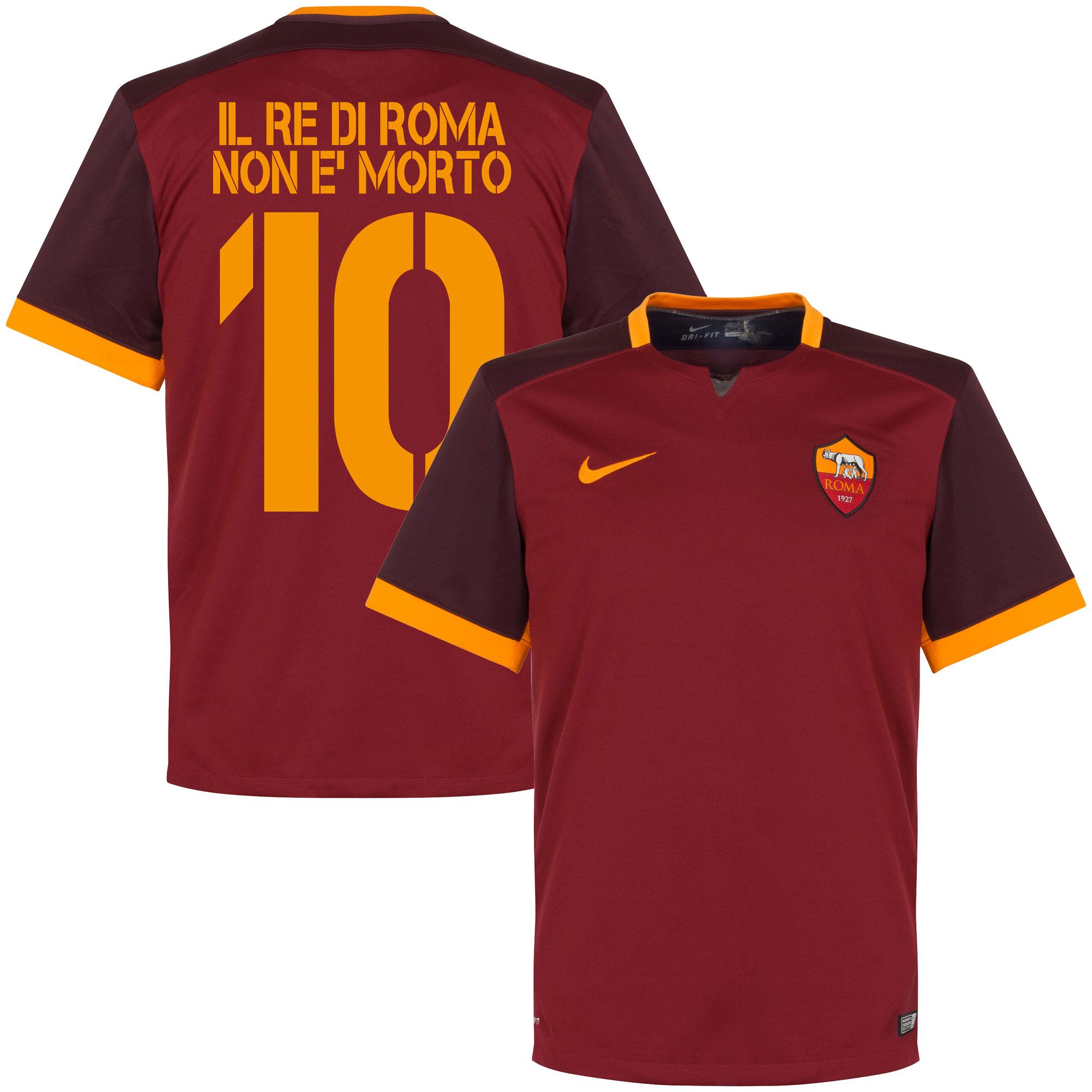 AS Roma Home Il Re Di Roma Non E'Morto Jersey 2015 / 2016 - XL