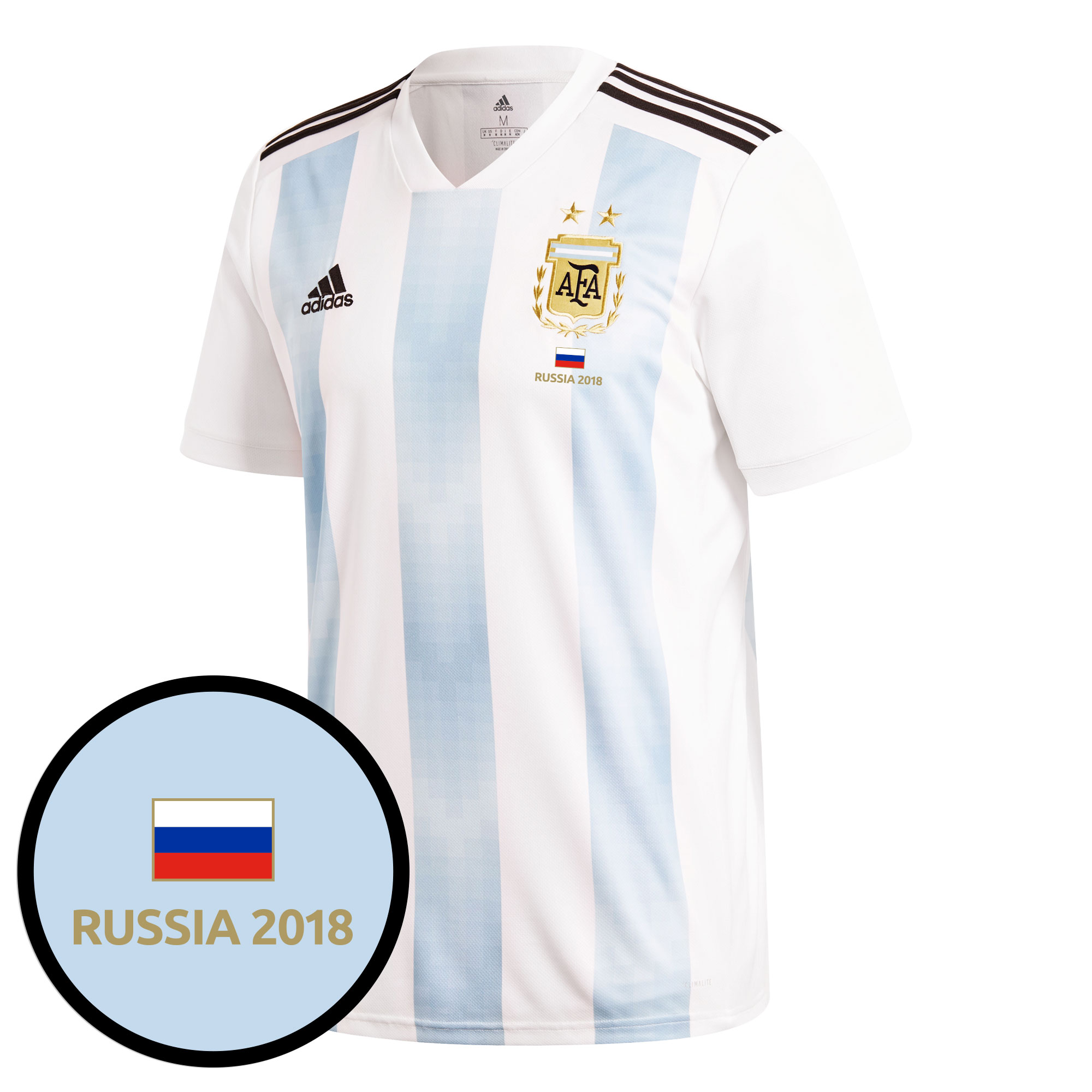 Argentina Home Jersey 2018 / 2019 + FREE Russia 2018 Commemorative Transfer - 42