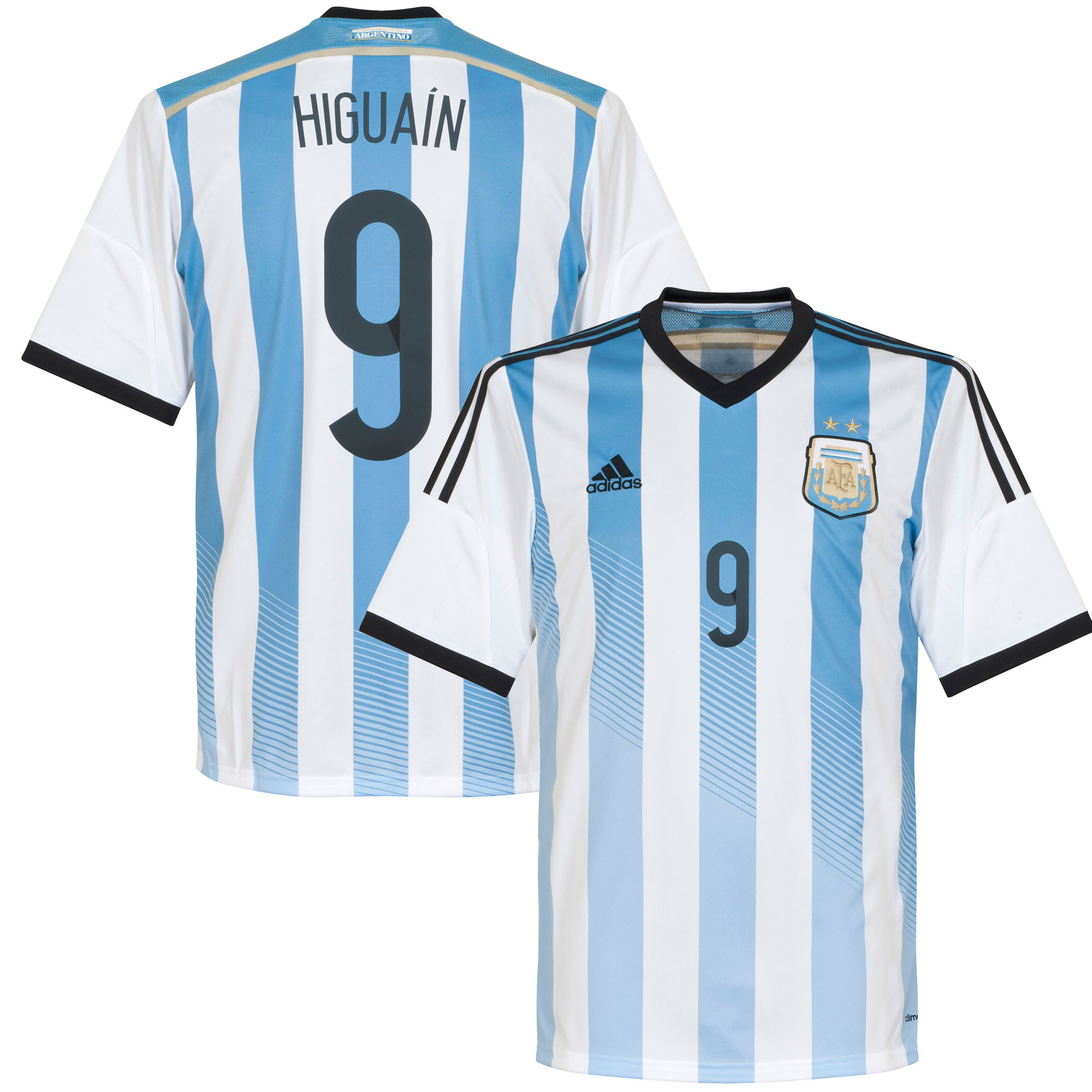 Argentina Home Higuain Jersey 2014 / 2015 - 66