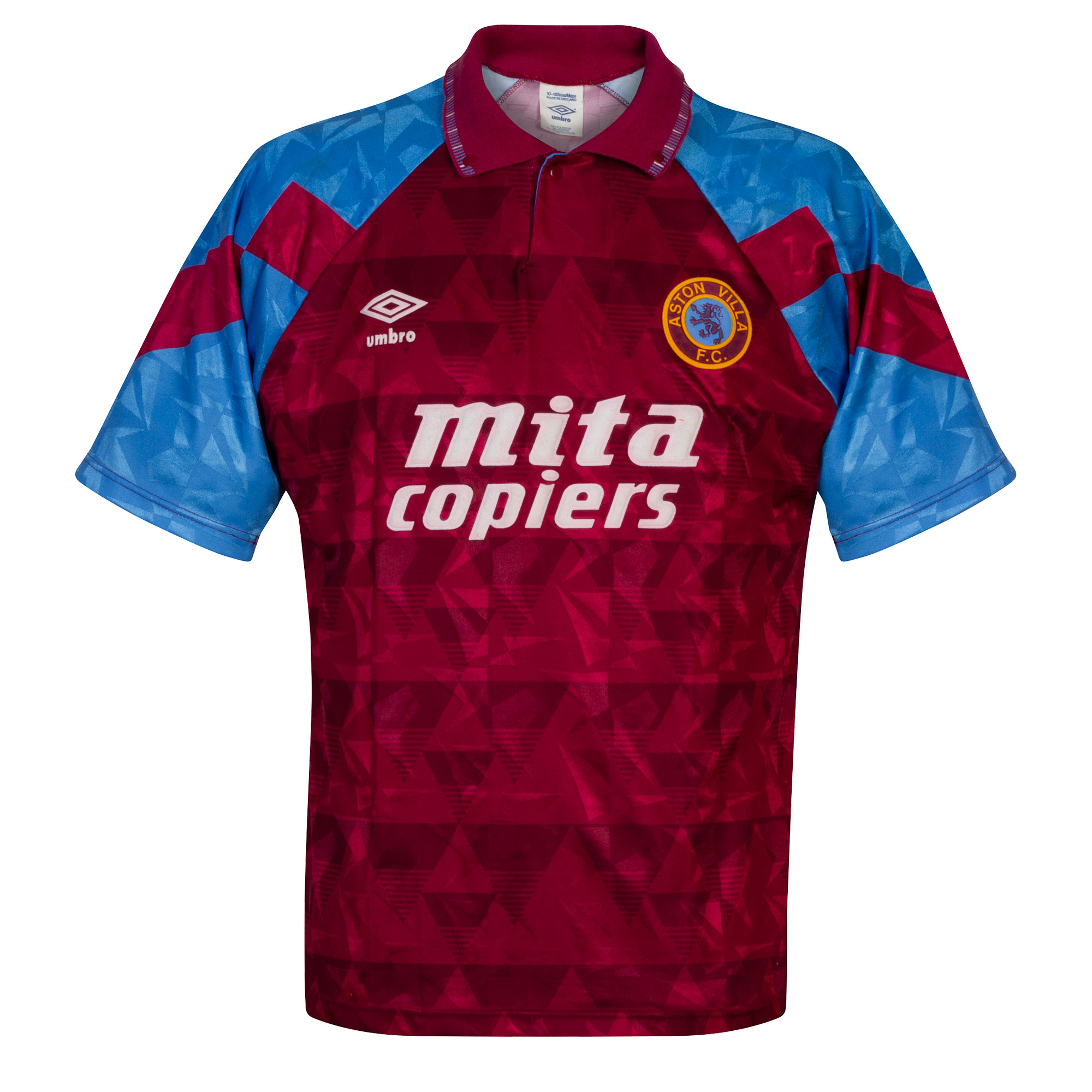 Umbro Aston Villa 1990-1992 Home Shirt - USED Condition (Great) - Size M