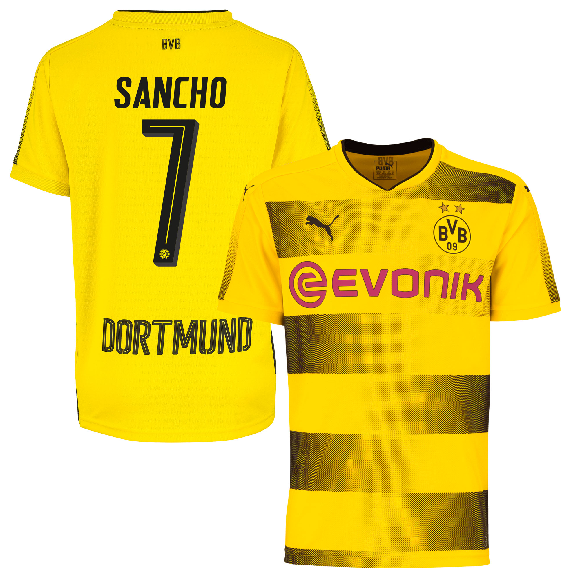 Borussia Dortmund Home Sancho 7 Shirt 2017 2018