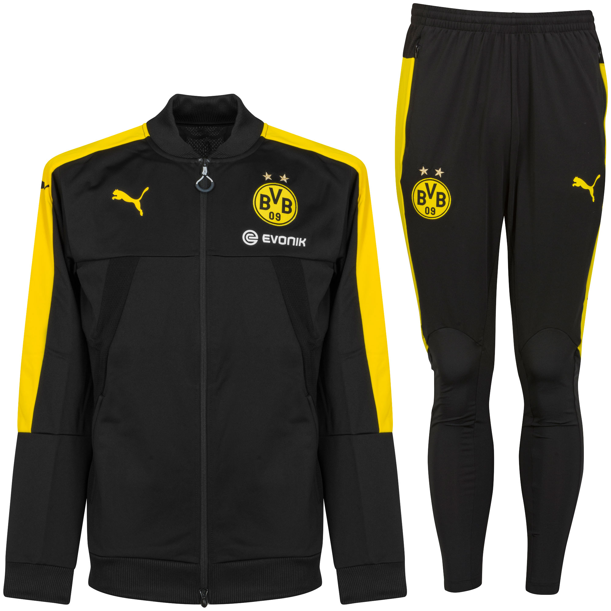 2017 Borussia Dortmund KIDS Training Suit - Black - 176