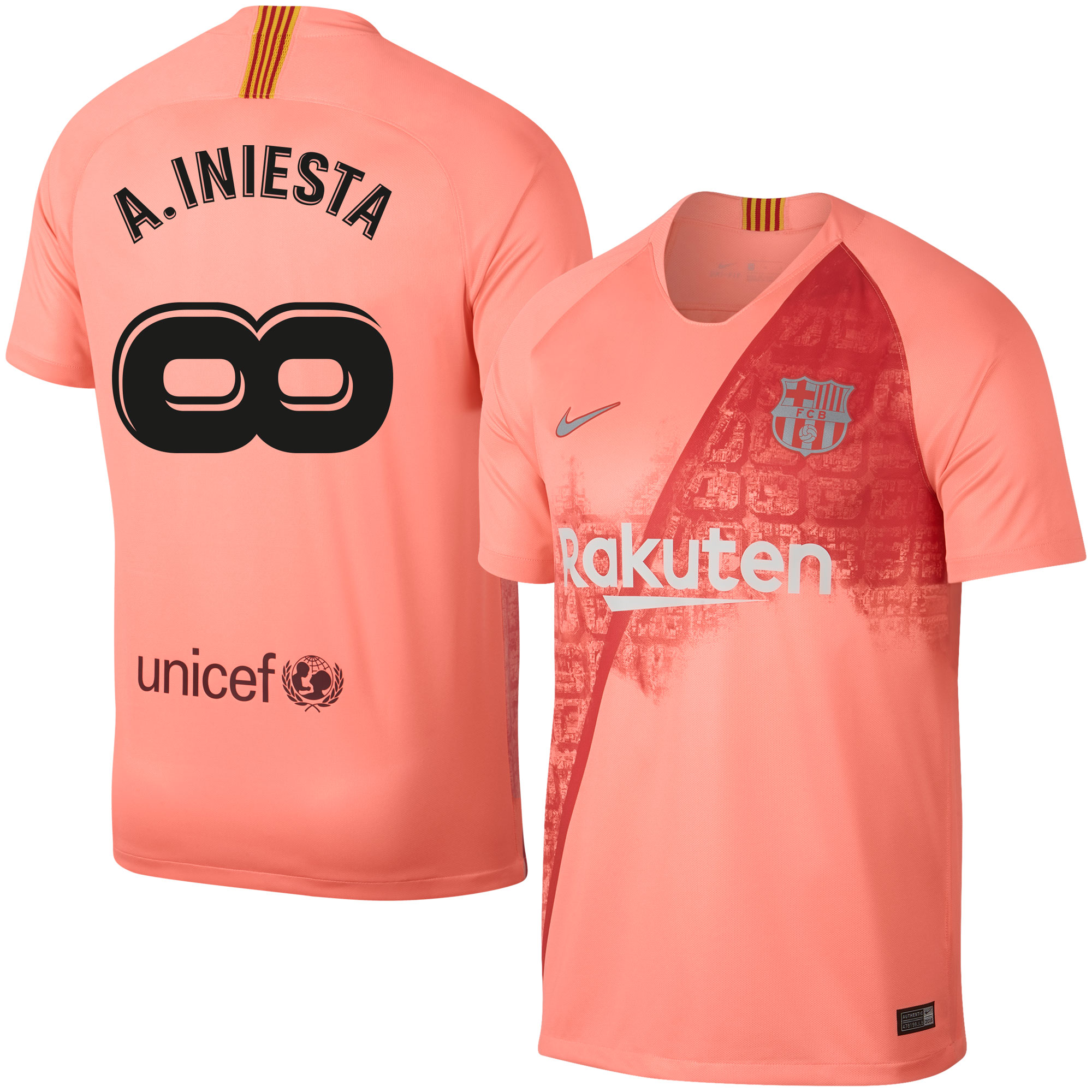 Barcelona 3rd A. Ineista Infinity Shirt 2018 2019 (Fan Style Prining)