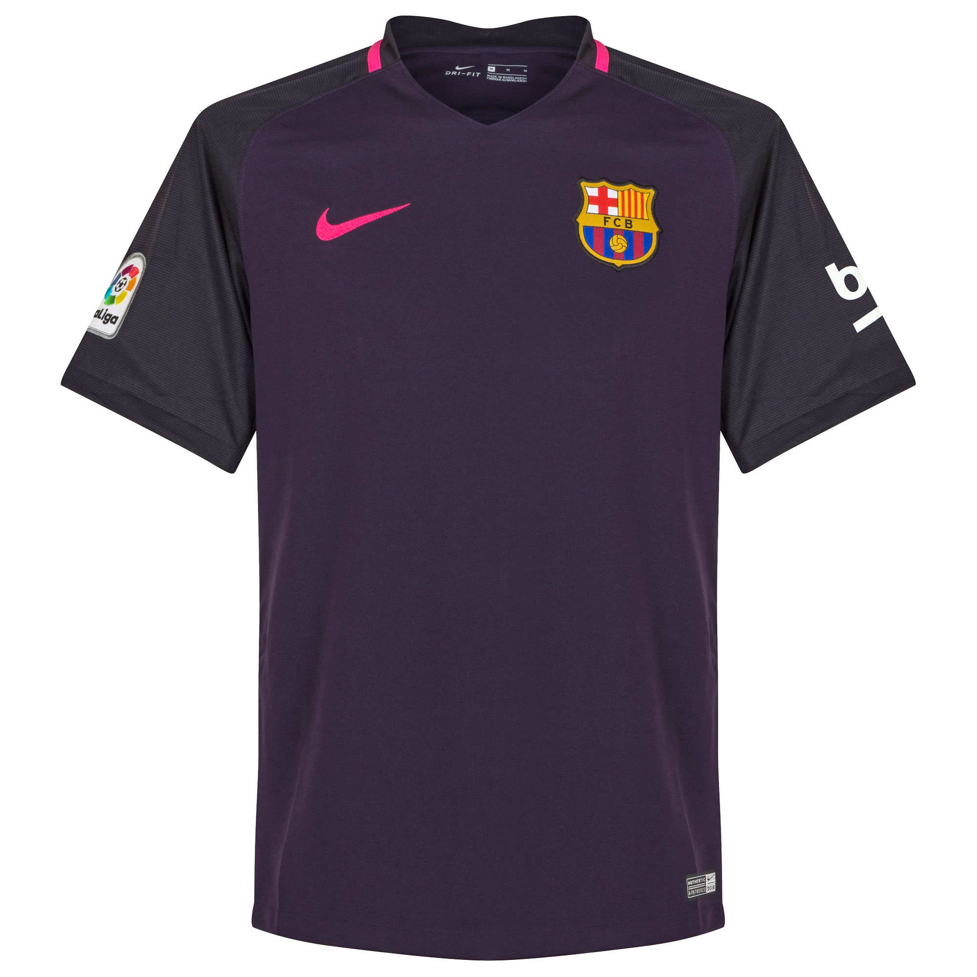 Nike Barcelona Mens SS Player Issue Away Shirt 2016/17 Image