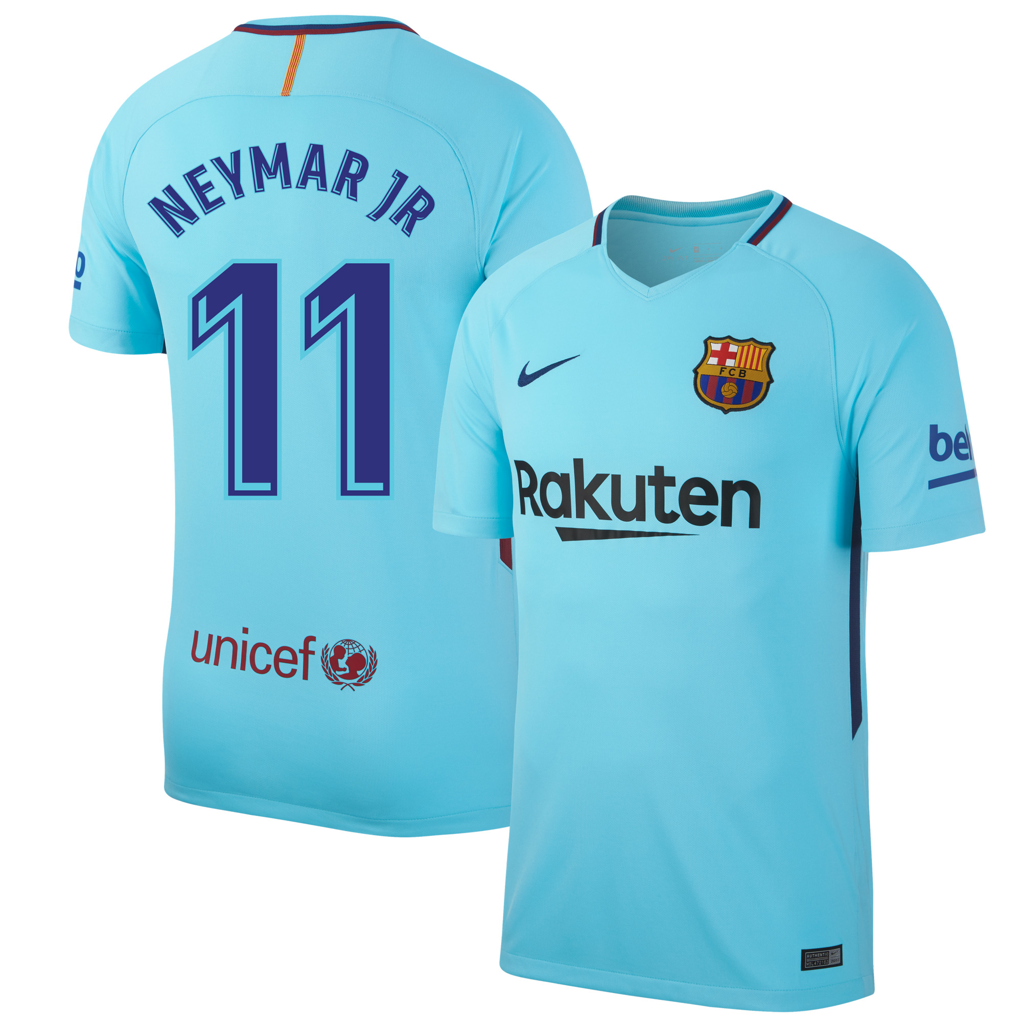 Barcelona Away KIDS Neymar Jr Jersey 2017 / 2018 (Fan Style Printing) - 152-158