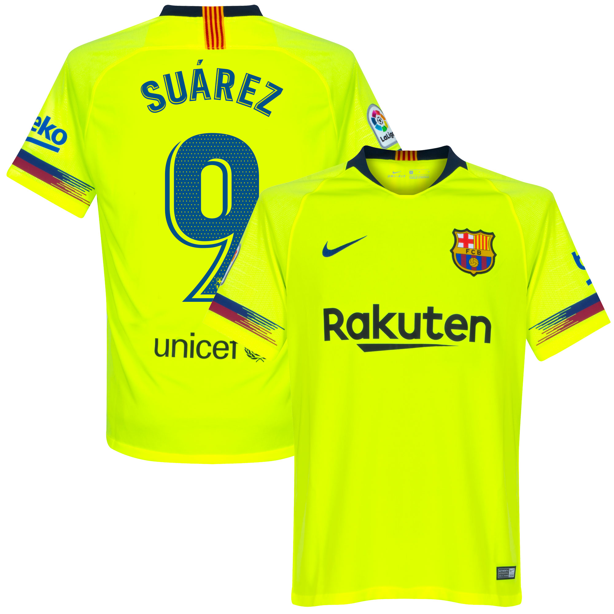 Barcelona Shirt Uit 2018-2019 + Suarez 9
