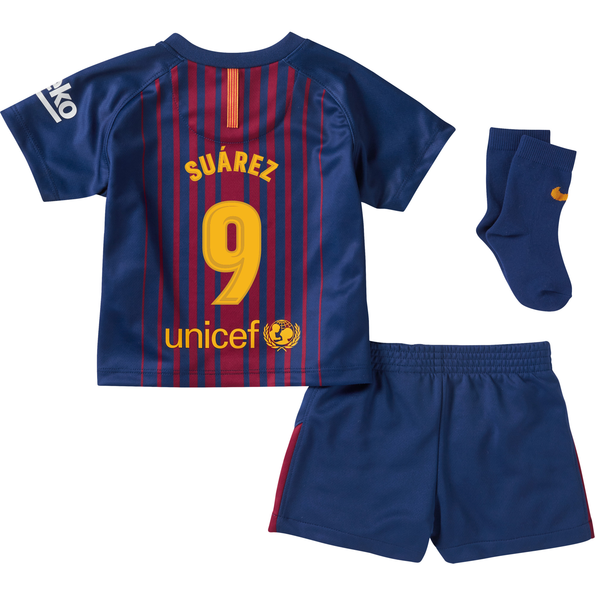 Barcelona Suarez Home Infant Kit 2017 / 2018 (Fan Style Printing) - 24-36