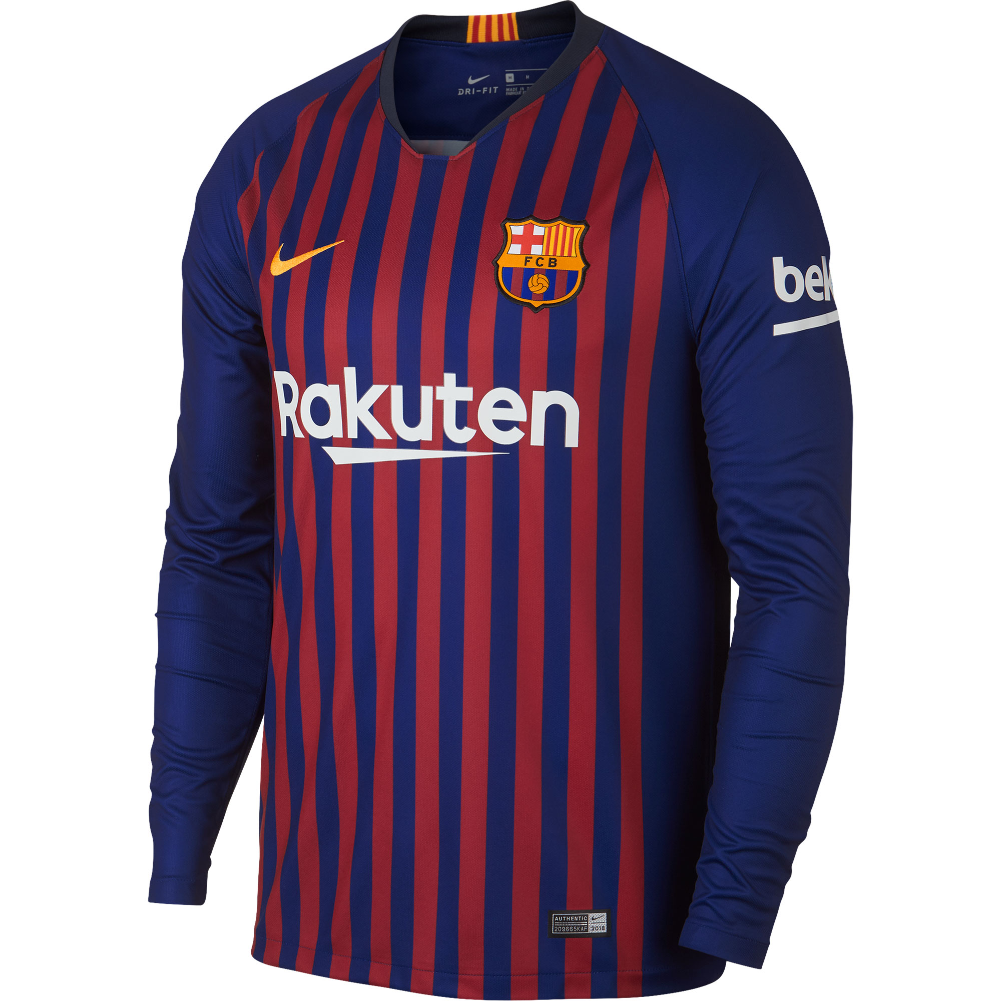 Barcelona Home long sleeve Shirt 2018 2019