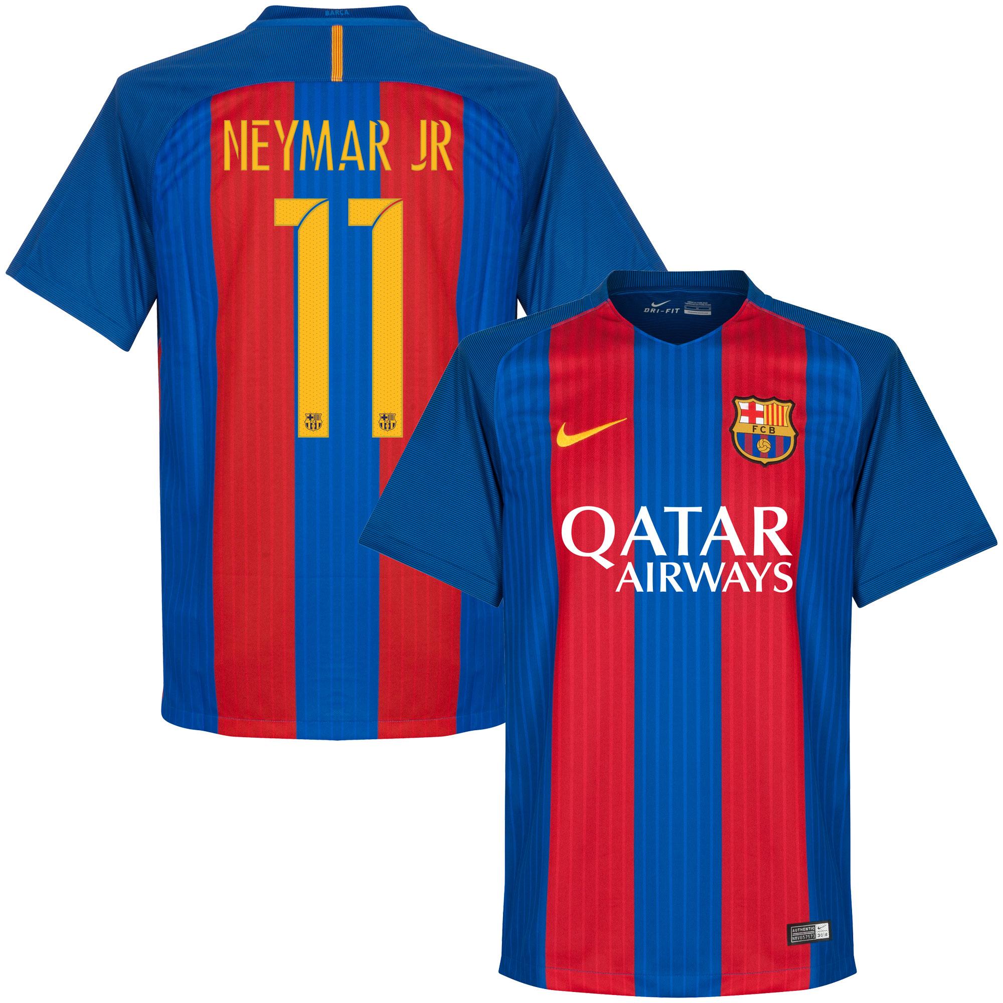 Barcelona Home Neymar Jr European Jersey 2016 / 2017 (Official Player Printing) - M