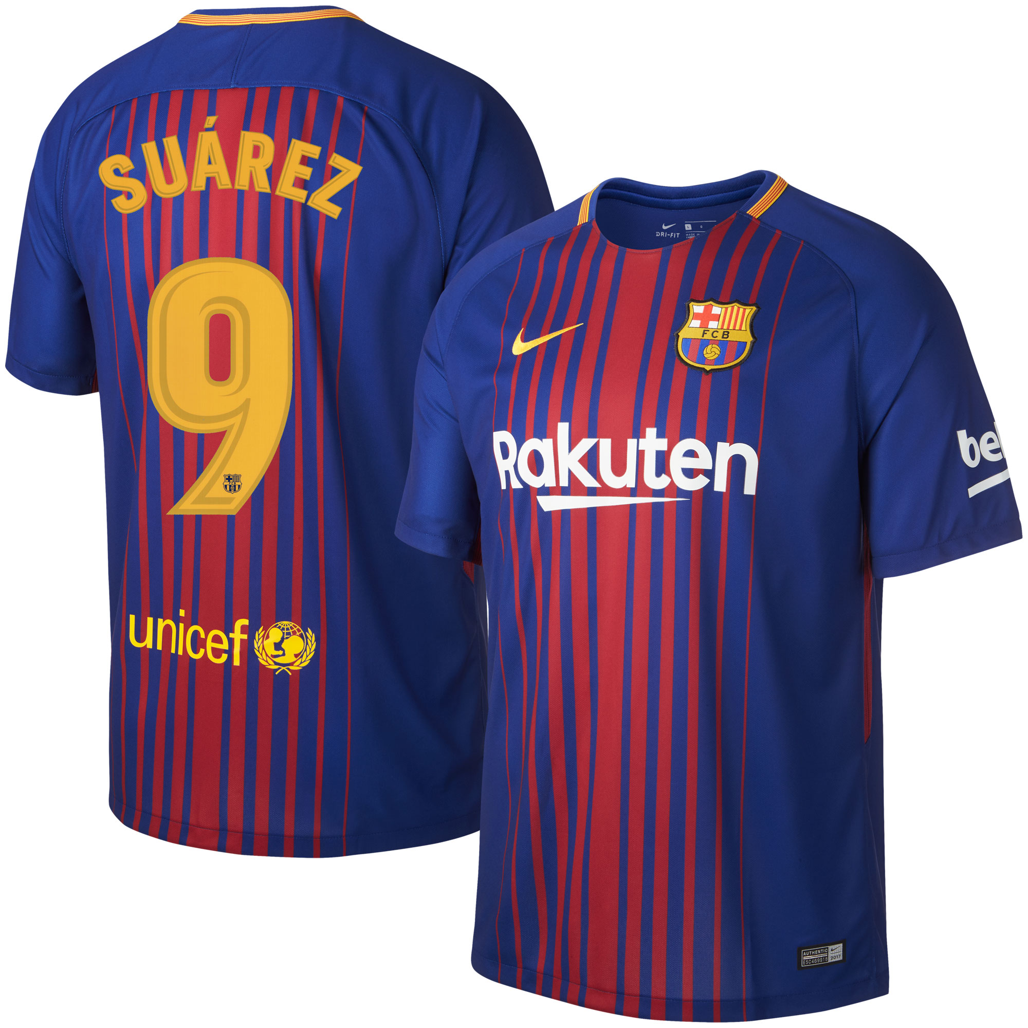Barcelona Home Suárez Jersey 2017 / 2018 (Official Printing) - XL