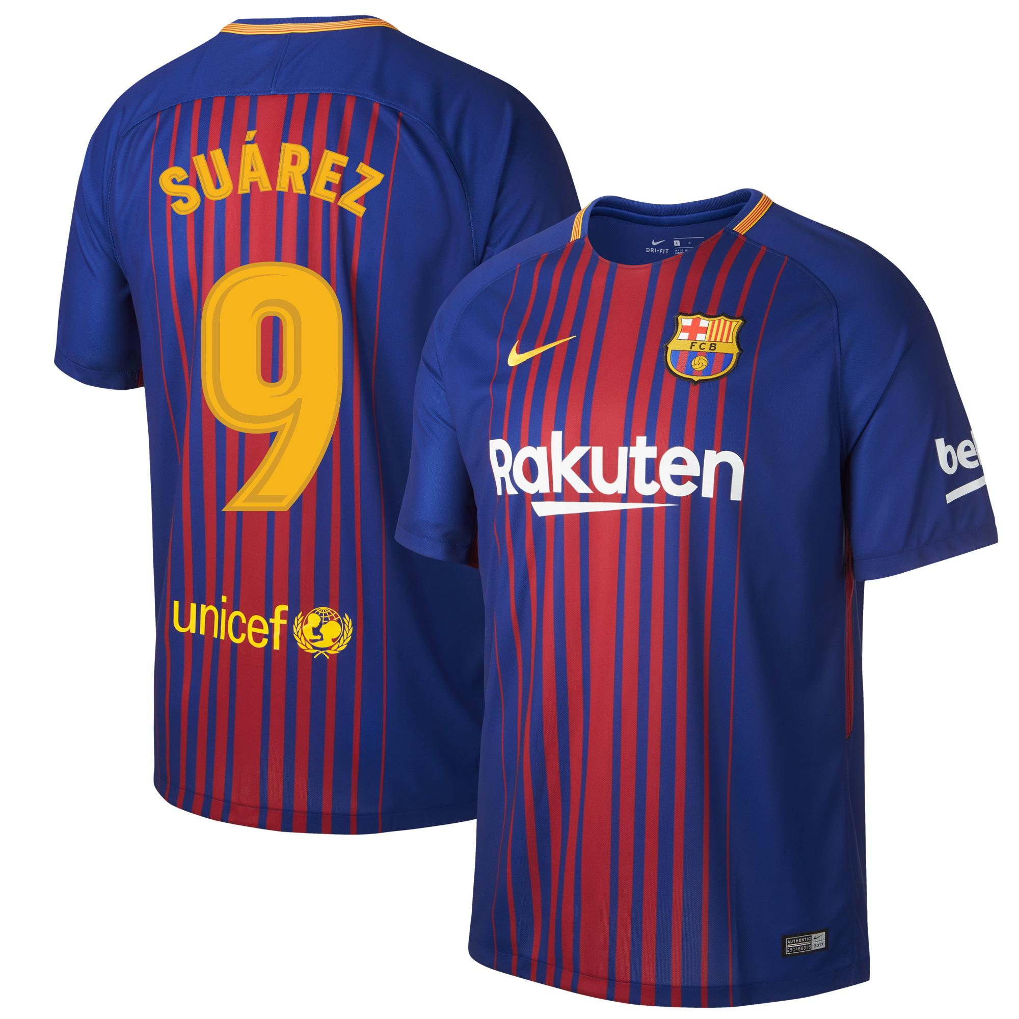 Barcelona Home Suarez KIDS Jersey 2017 / 2018 (Fan Style Printing) - 158-170