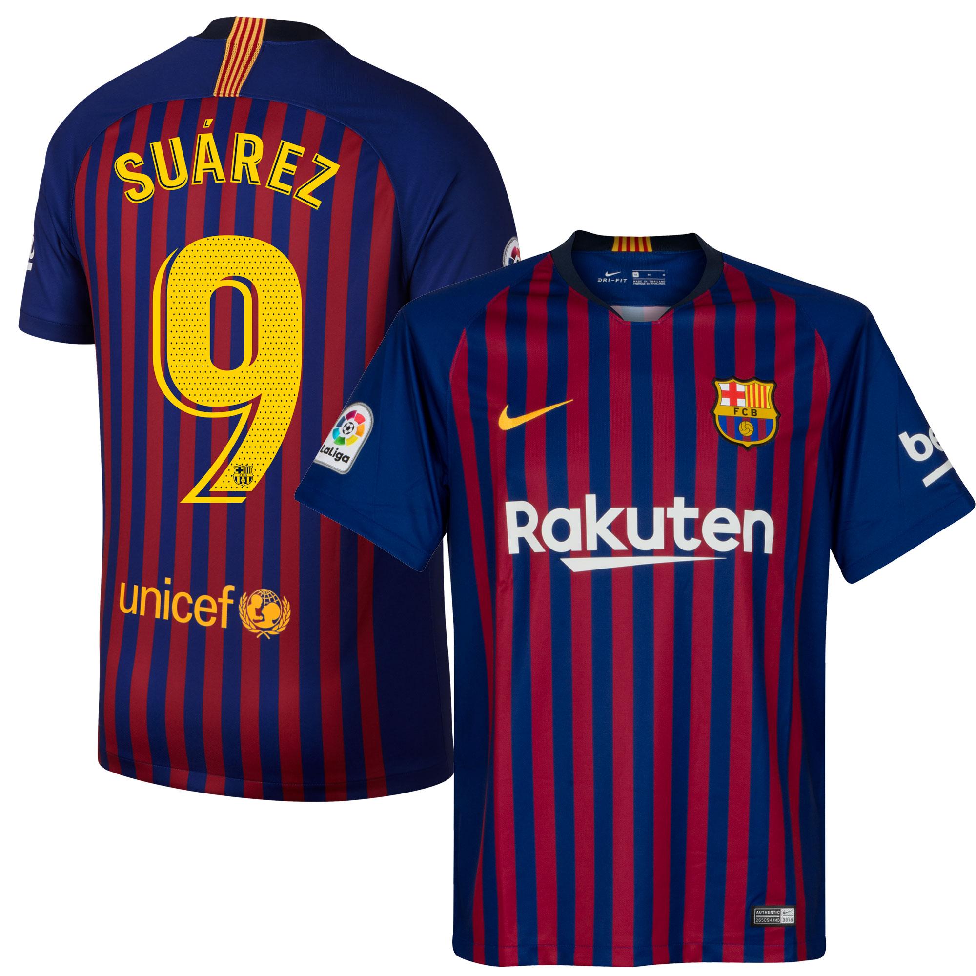 Barcelona Shirt Thuis 2018-2019 + Suarez 9