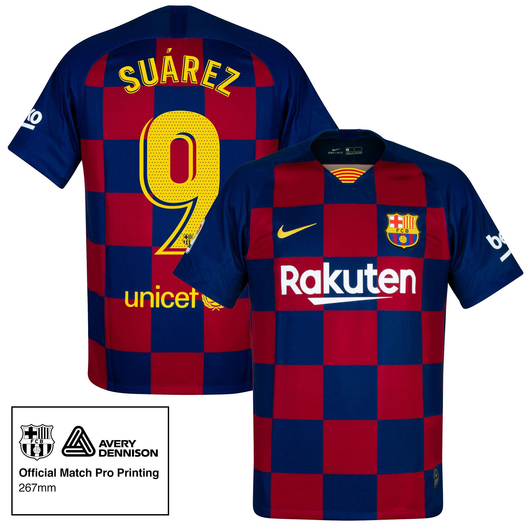 Barcelona Shirt Thuis 2019-2020 + Suarez 9