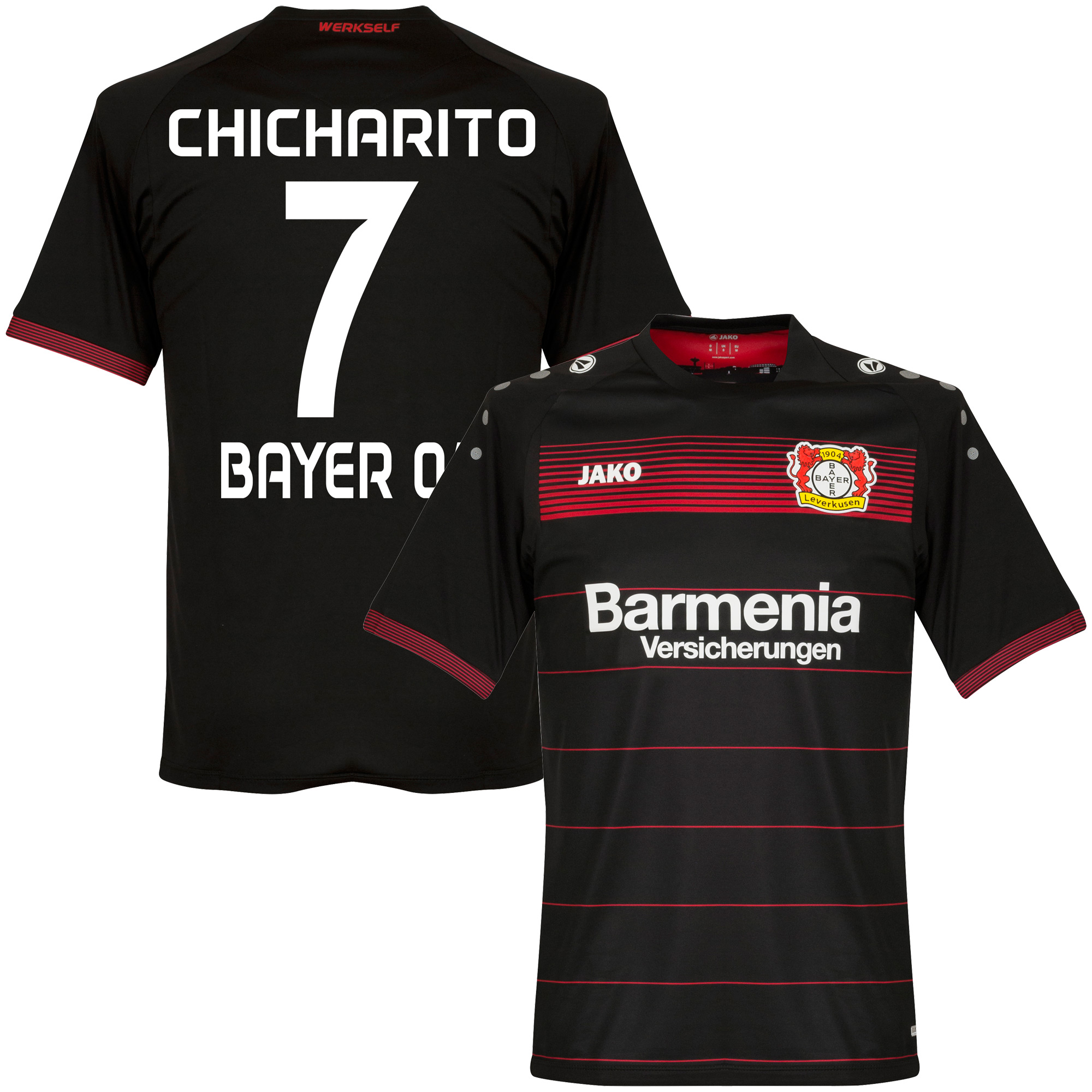 Bayer Leverkusen Home KIDS Chicharito Jersey 2016 / 2017 (Fan Style Printing) - 128