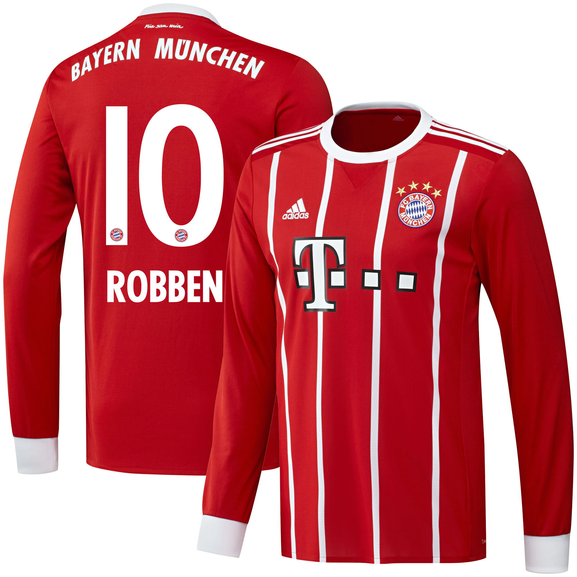 Bayern Munich Home L/S Robben Jersey 2017 / 2018 (Official Printing) - 58