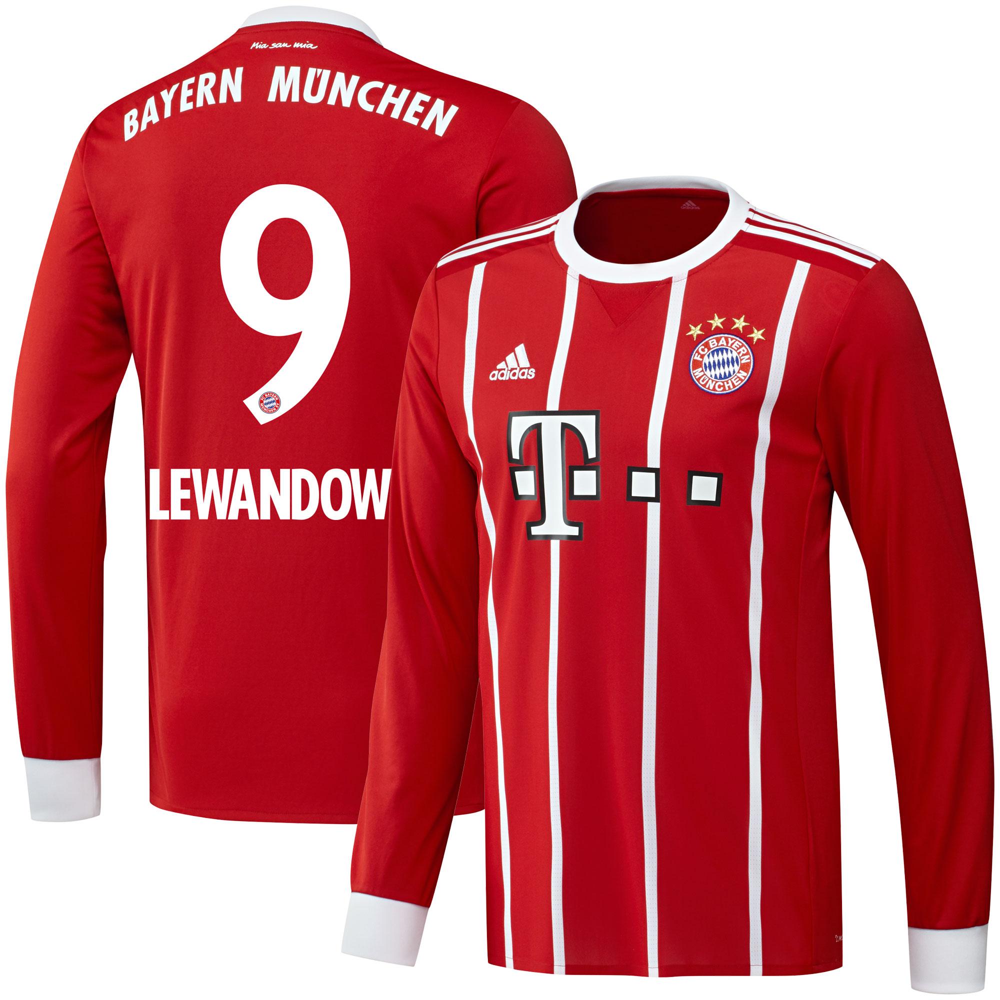 Bayern Munich Home L/S Lewandowski Jersey 2017 / 2018 (Official Printing) - 62