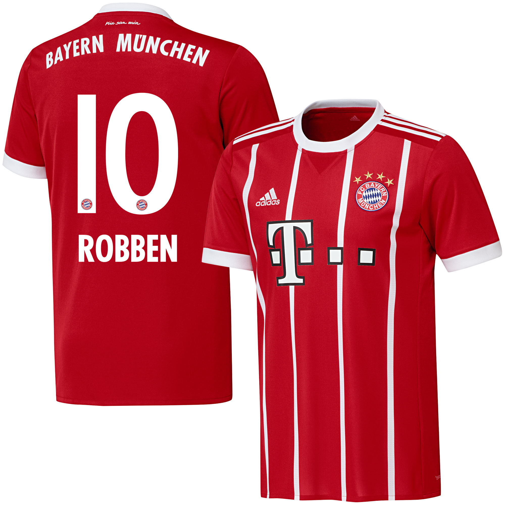 Bayern Munich Home Robben Jersey 2017 / 2018 (Official Printing) - 54