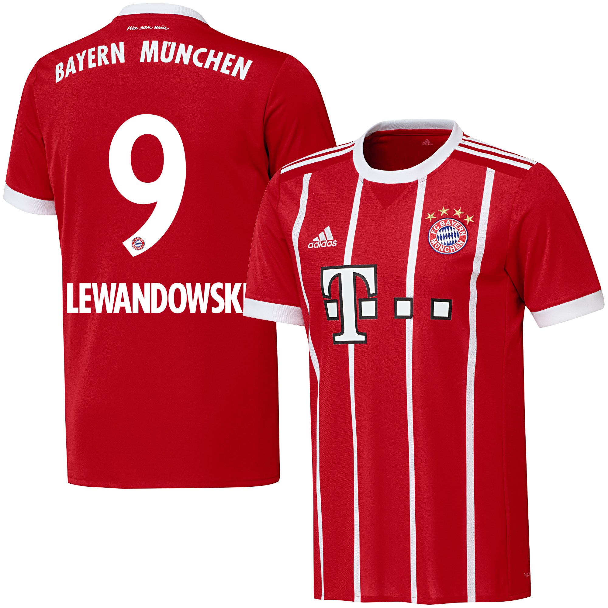 Bayern Munich Home Lewandowski Jersey 2017 / 2018 (Official Printing) - 58