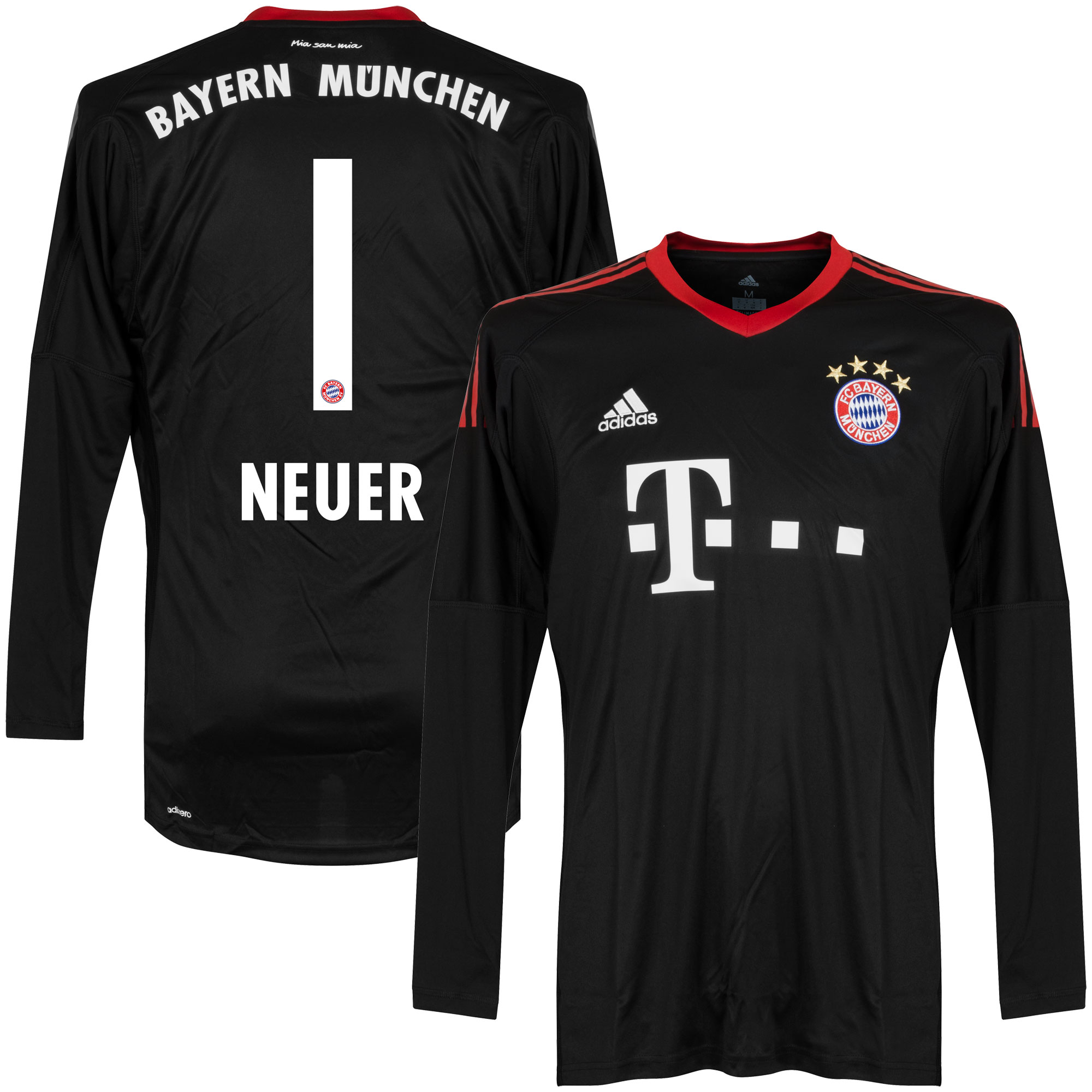 Bayern Munich Home Neuer Goalkeeper Jersey 2017 / 2018 (Official Printing) - 54