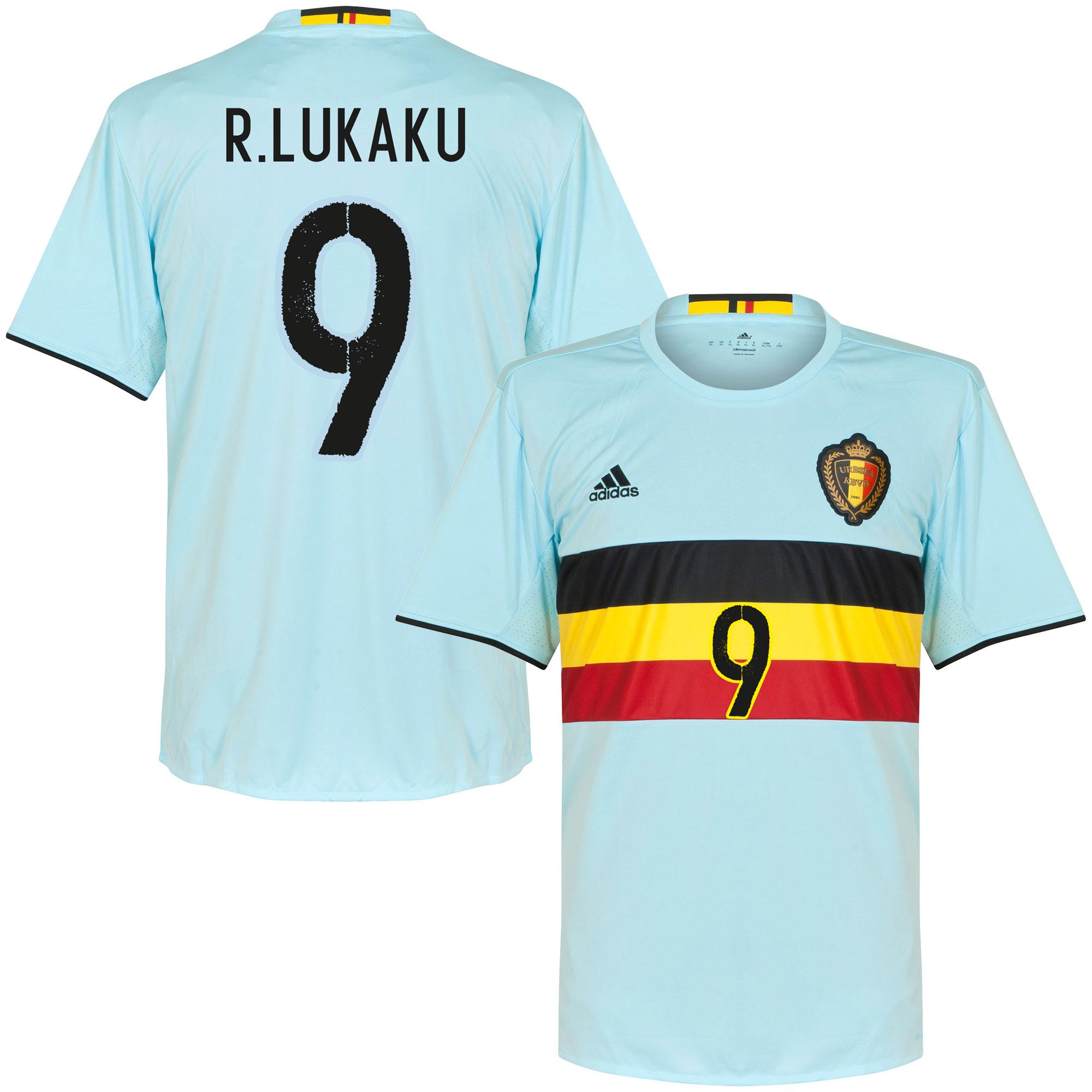 Belgium Away R. Lukaku Jersey 2016 / 2017 (Official Printing) - 62