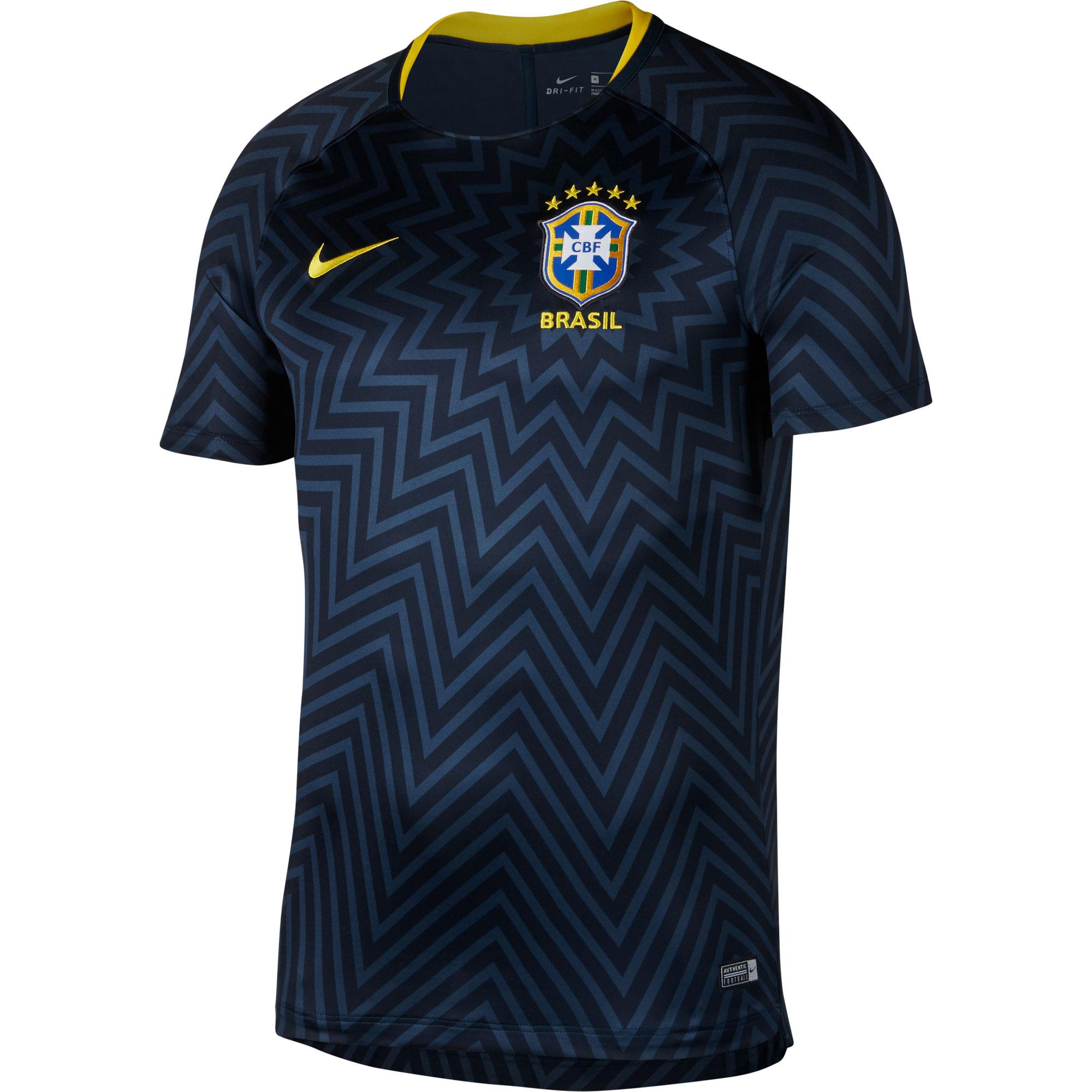 Brasil Squad short sleeve Shirt 2018 2019