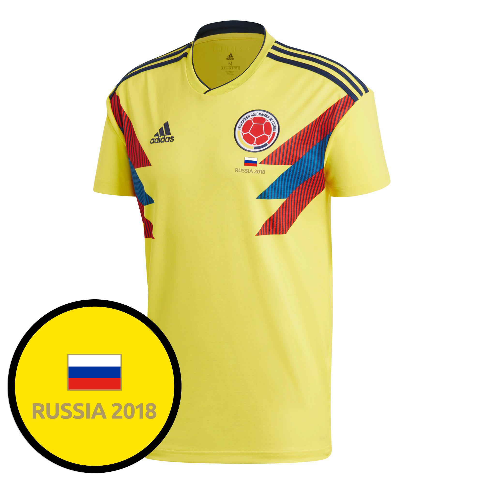 Colombia Home Jersey 2018 / 2019 + FREE Russia 2018 Commemorative Transfer - 62