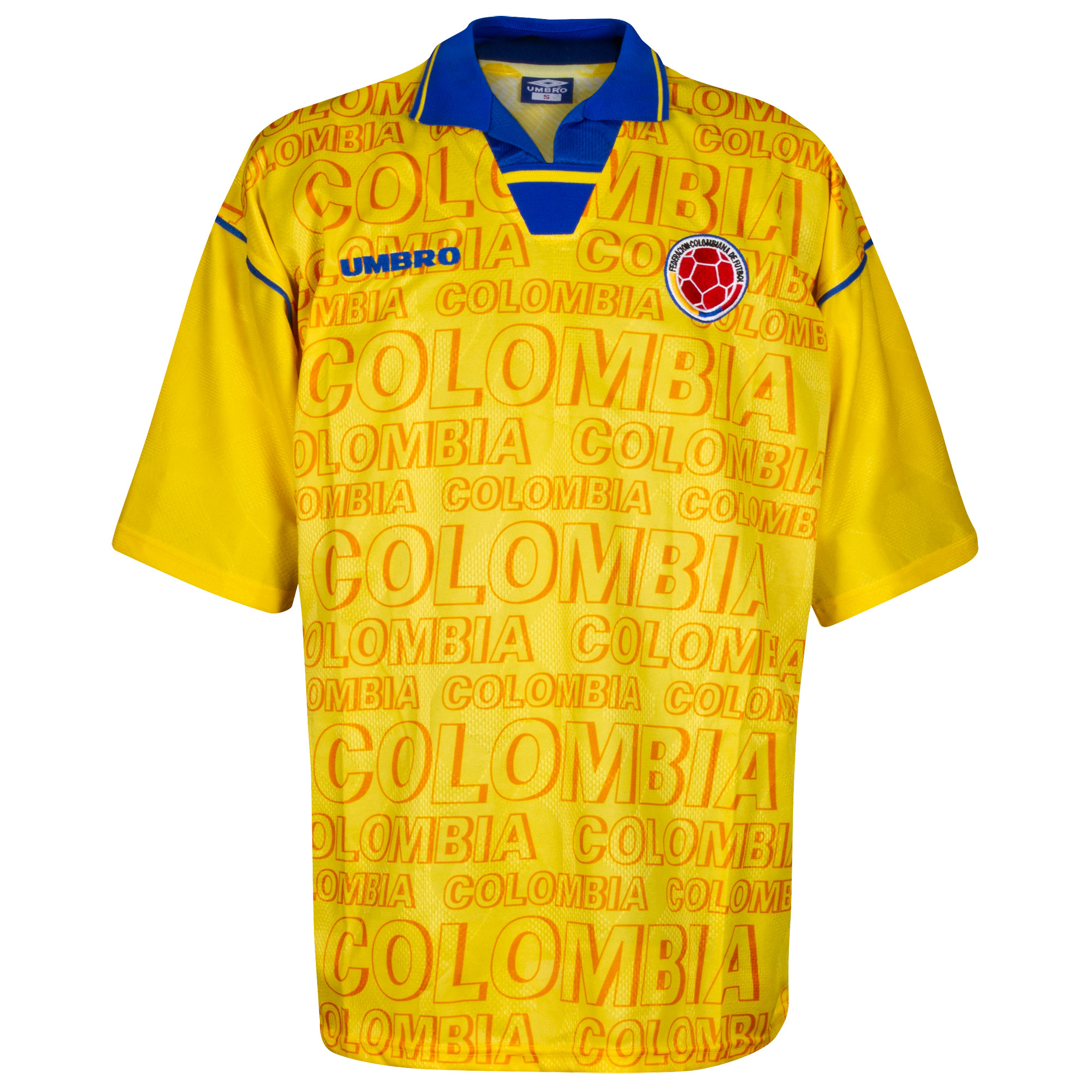 415fdeeb7f4 Umbro Colombia Mens SS Home Shirt 1997
