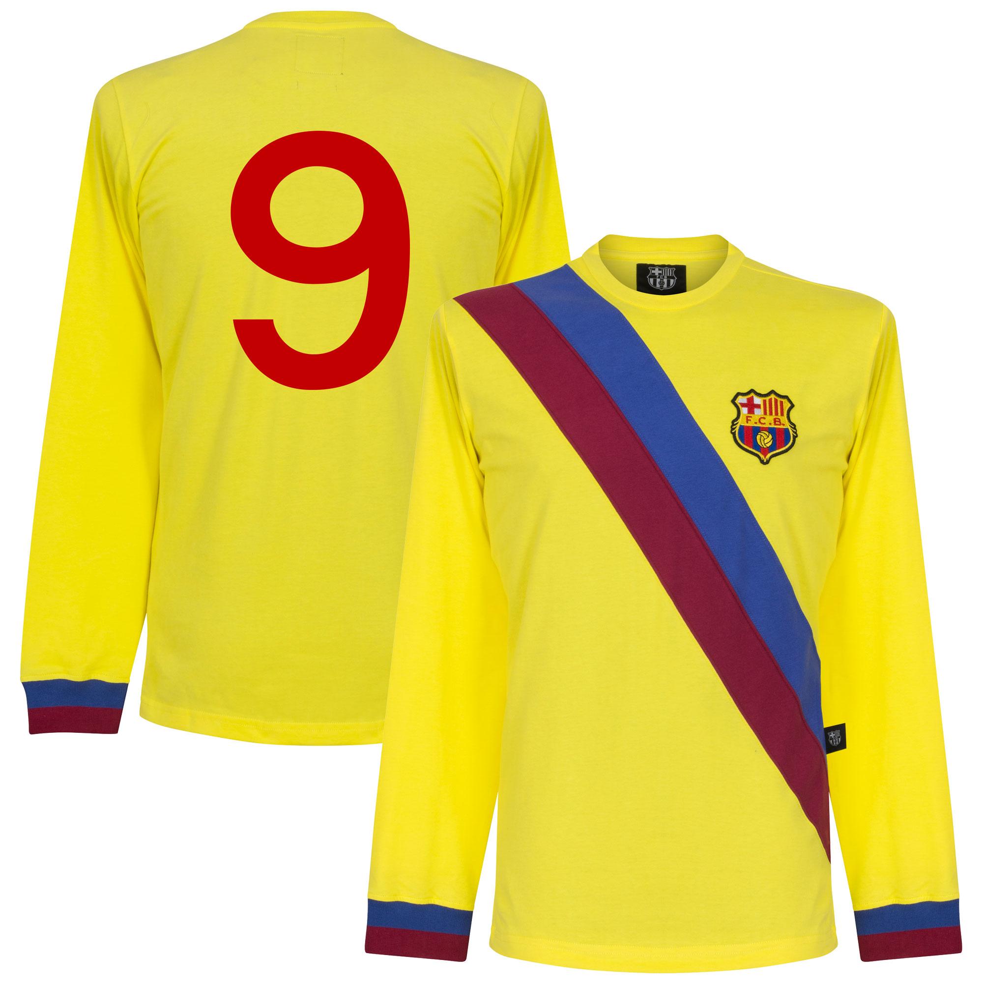 Barcelona Retro Uitshirt 1974-1975 + 9