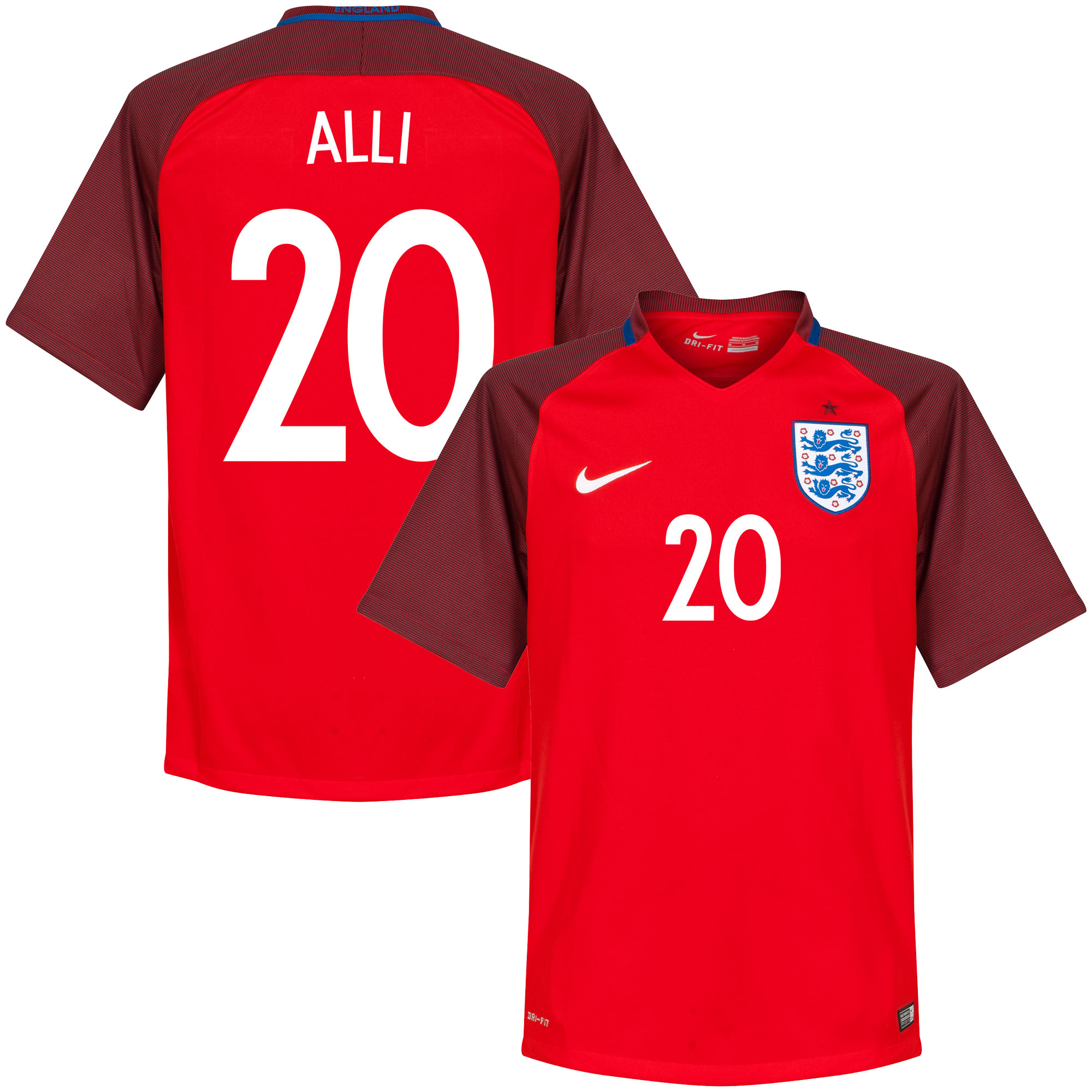 England Away Alli Jersey 2016 / 2017 (Fan Style Printing) - XL