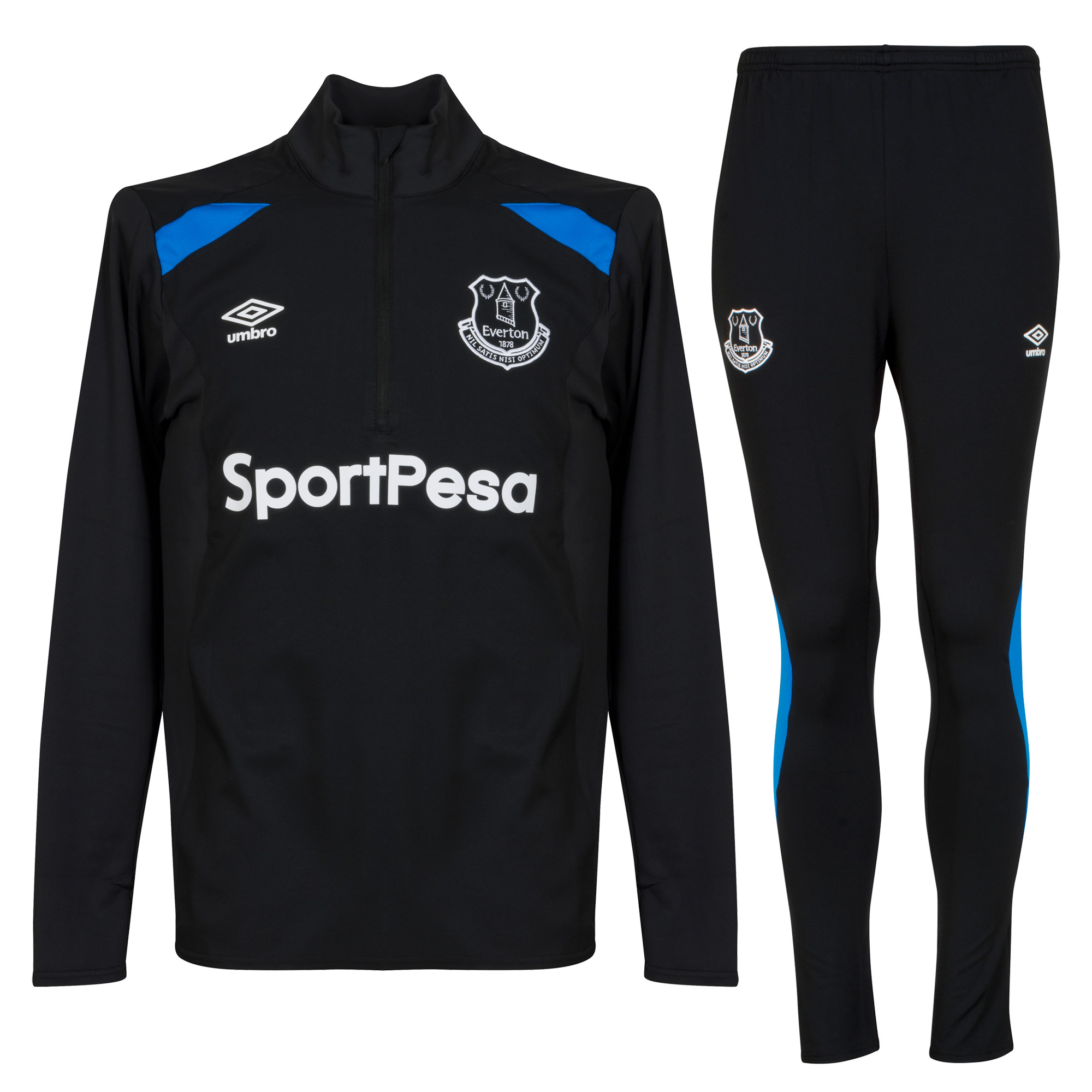 Everton Training Suit 2017 / 2018 - Black/Royal - L