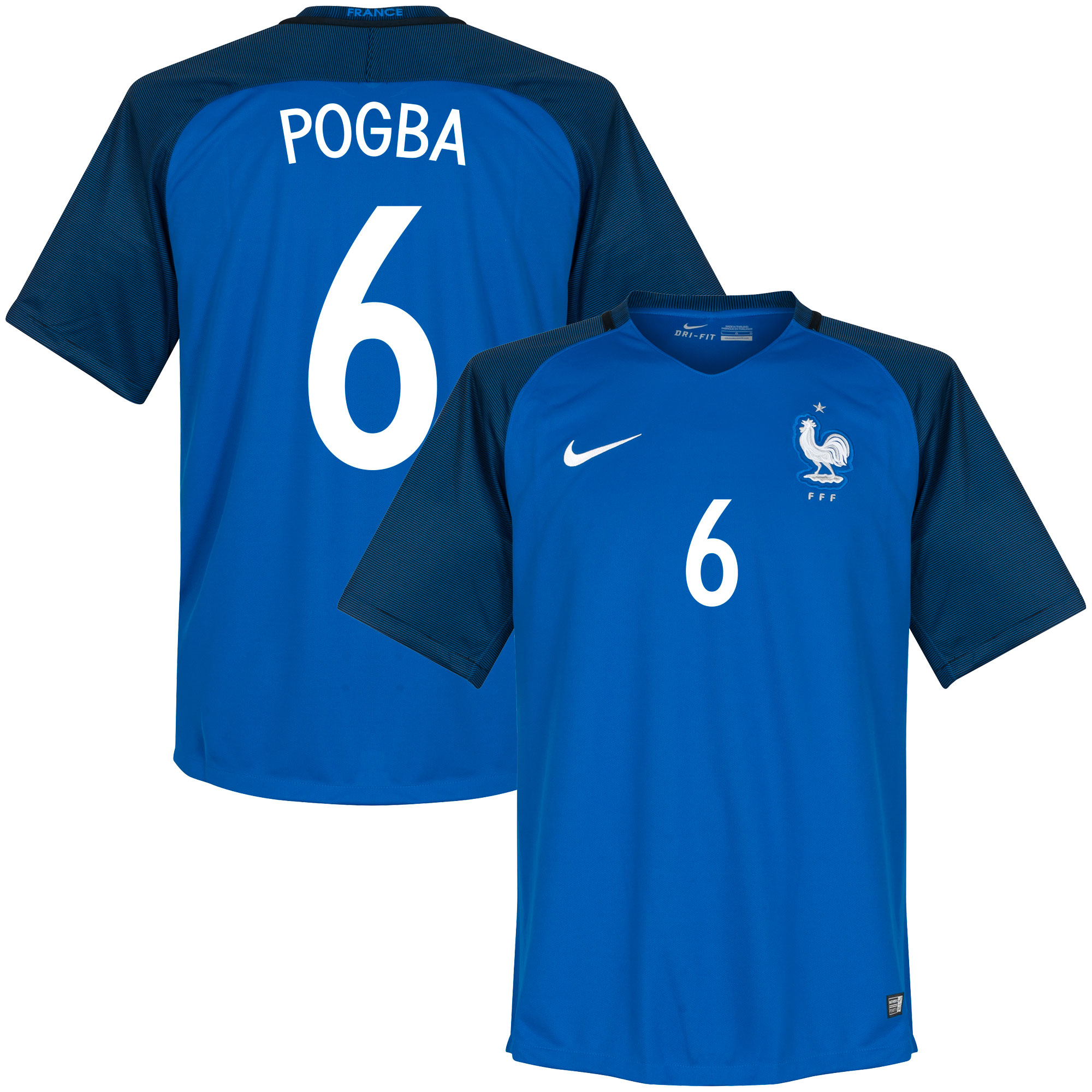 France Home Pogba Jersey 2016 / 2017 (Fan Style Printing) - XL
