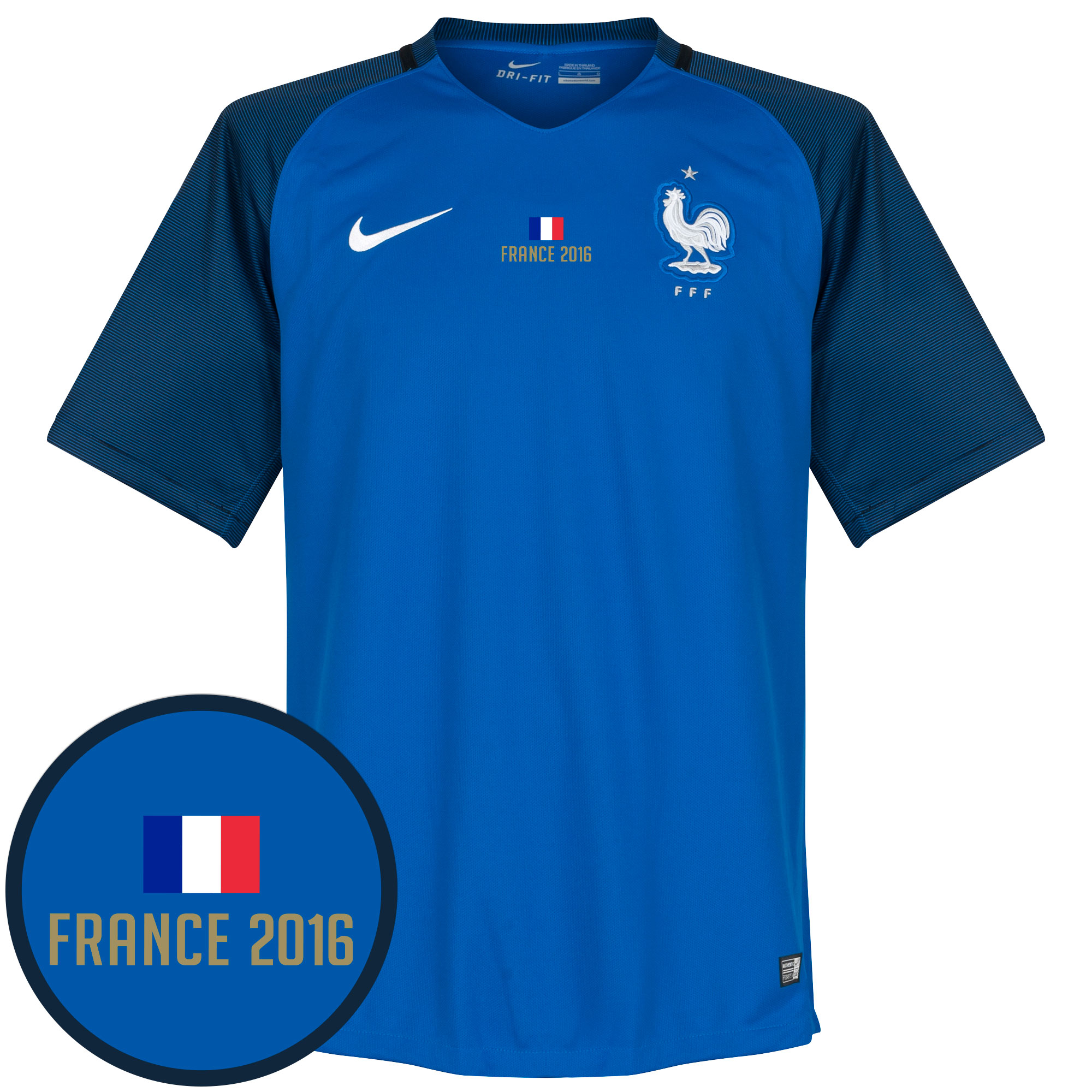 France Home Jersey 2016 / 2017 + France 2016 Transfer - XL