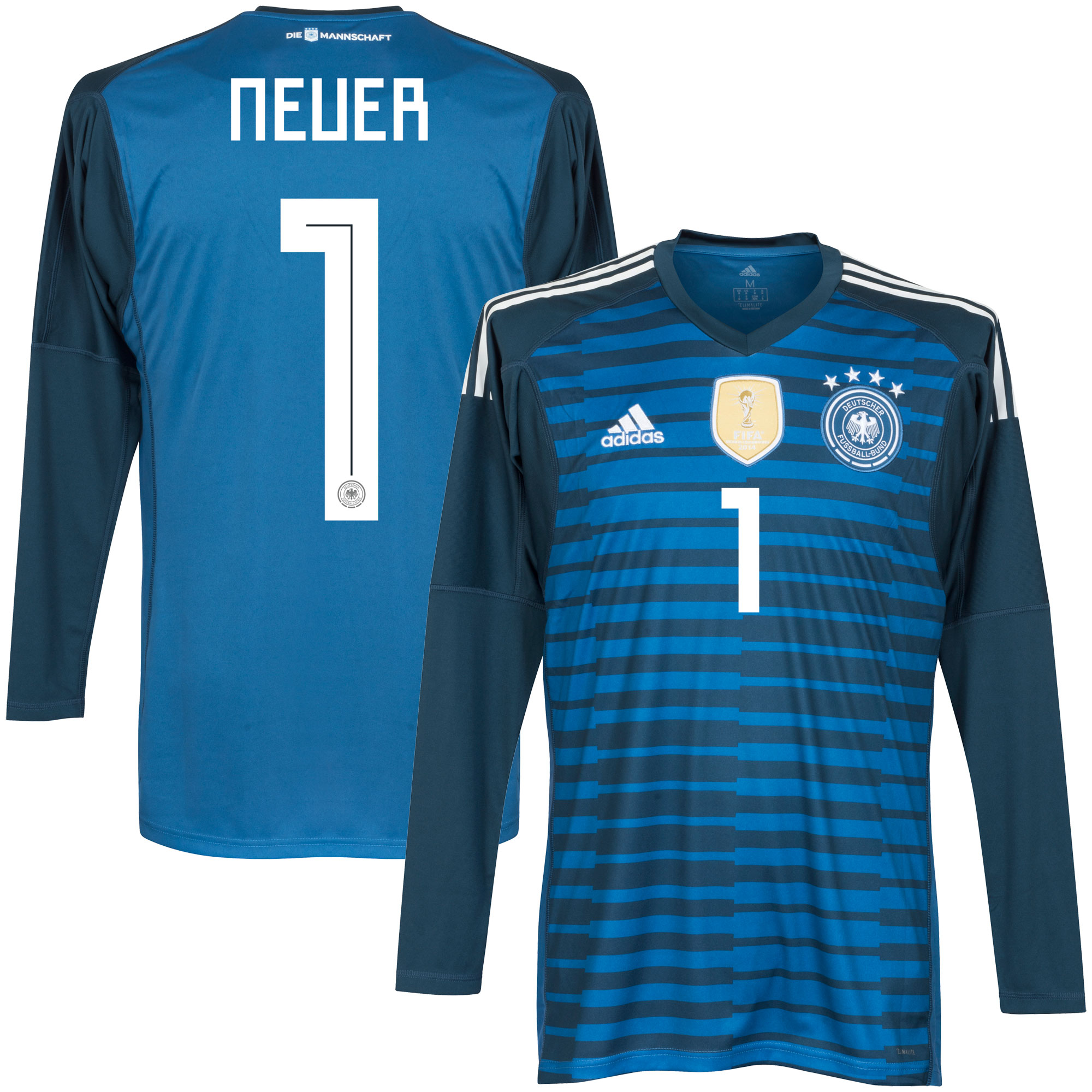 Germany Home Neuer Goalkeeper Jersey 2018 / 2019 (Official Printing) - 46