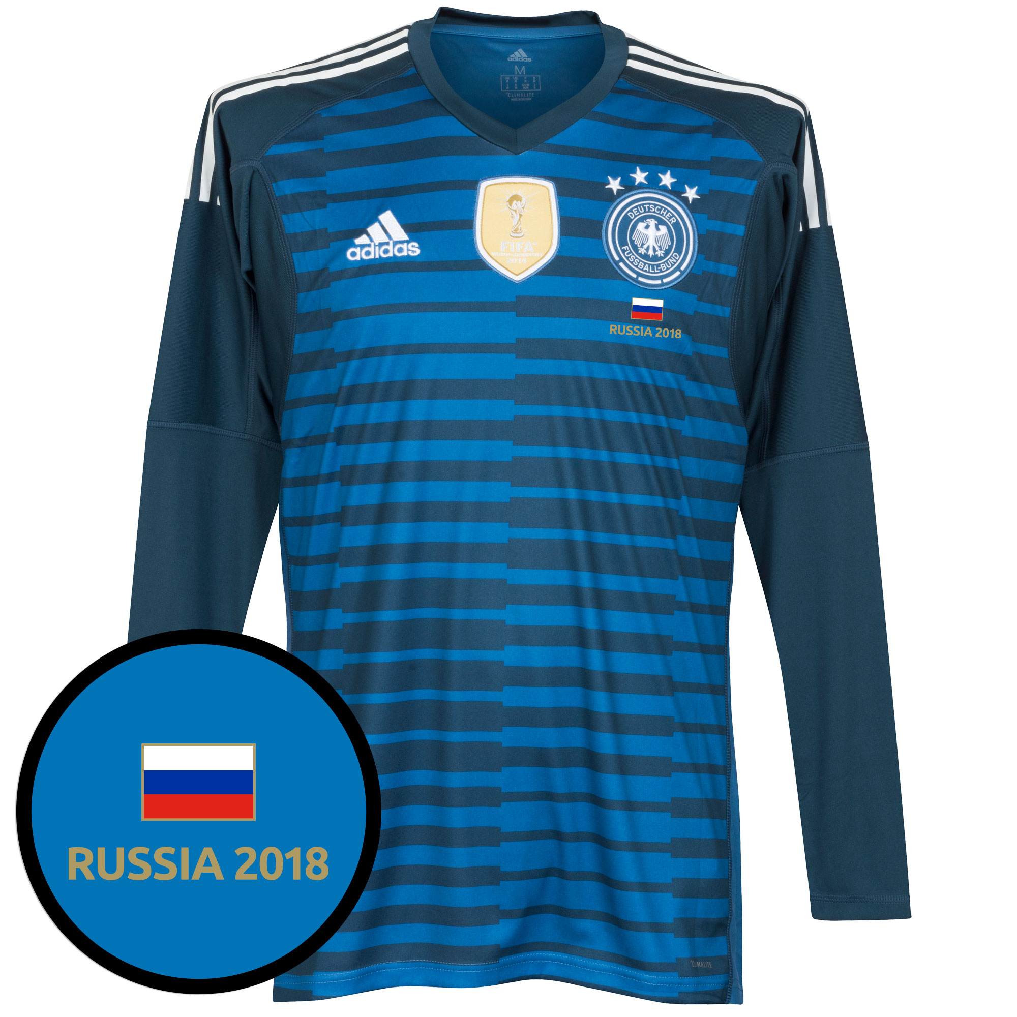 Germany World Cup Home GK Shirt 2018 inc FREE Russia 2018 Tournamant Transfer