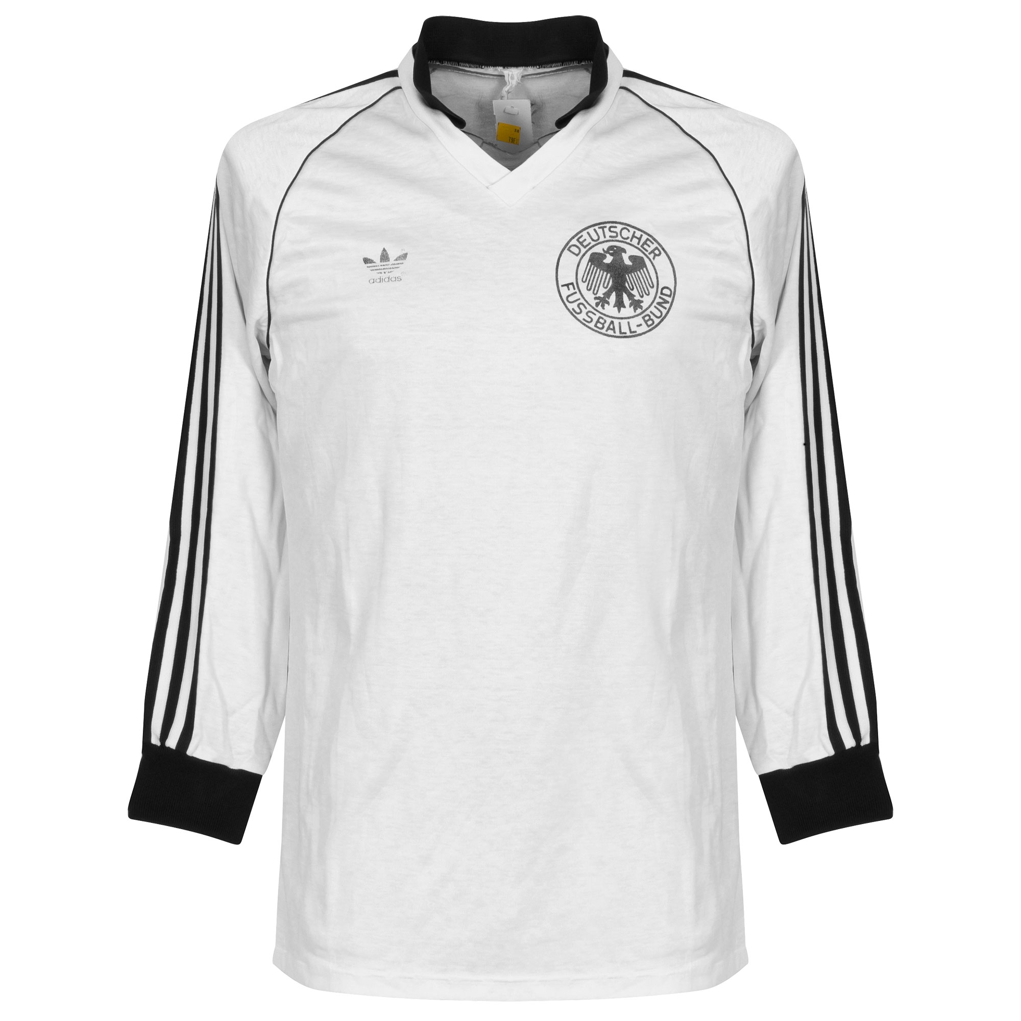 adidas Germany 1980-1982 Home L/S Shirt - USED Condition (Great) - Size Large