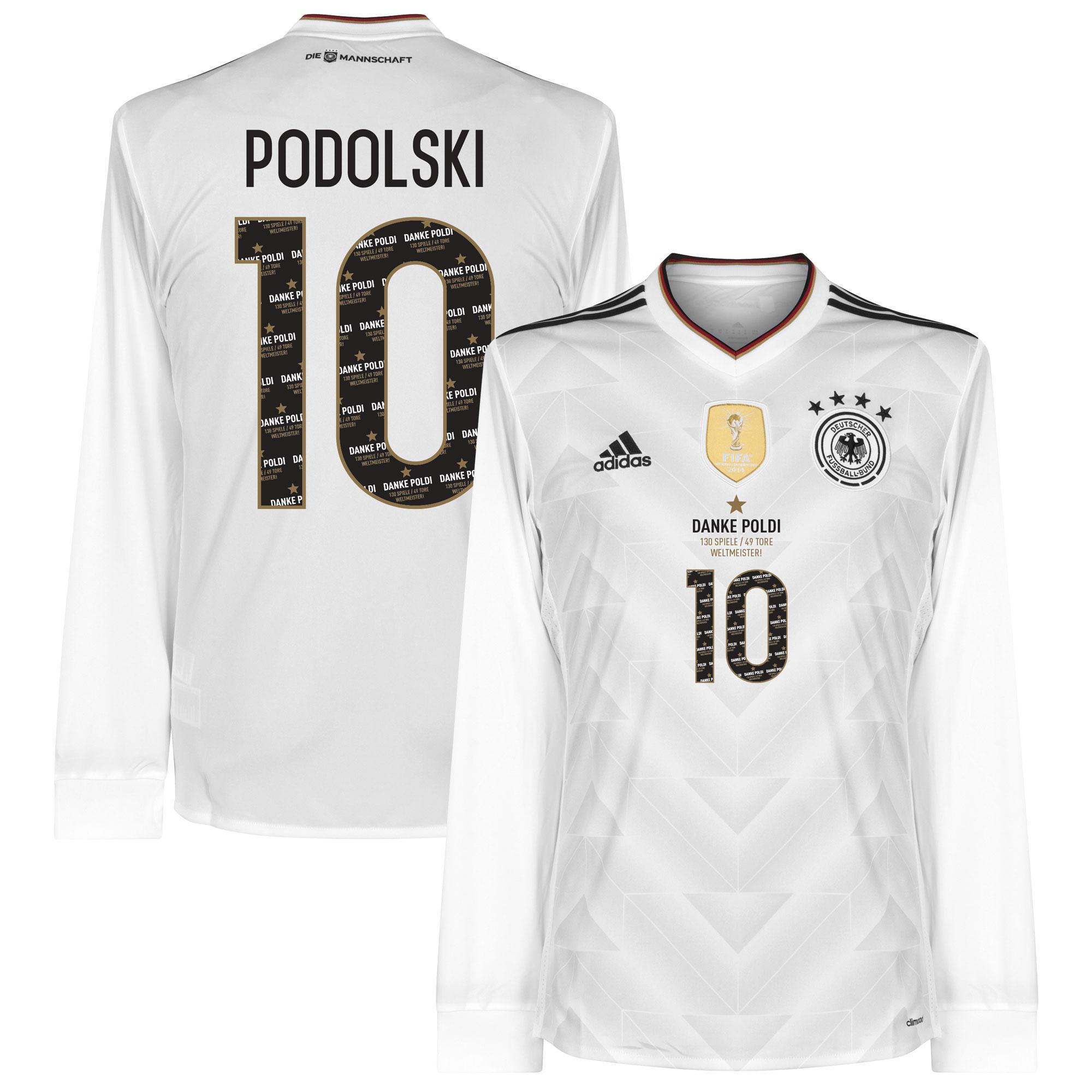 Duitsland Confederations Cup Shirt Thuis 2017 (Lange Mouwen) + Danke Podolski Bedrukking