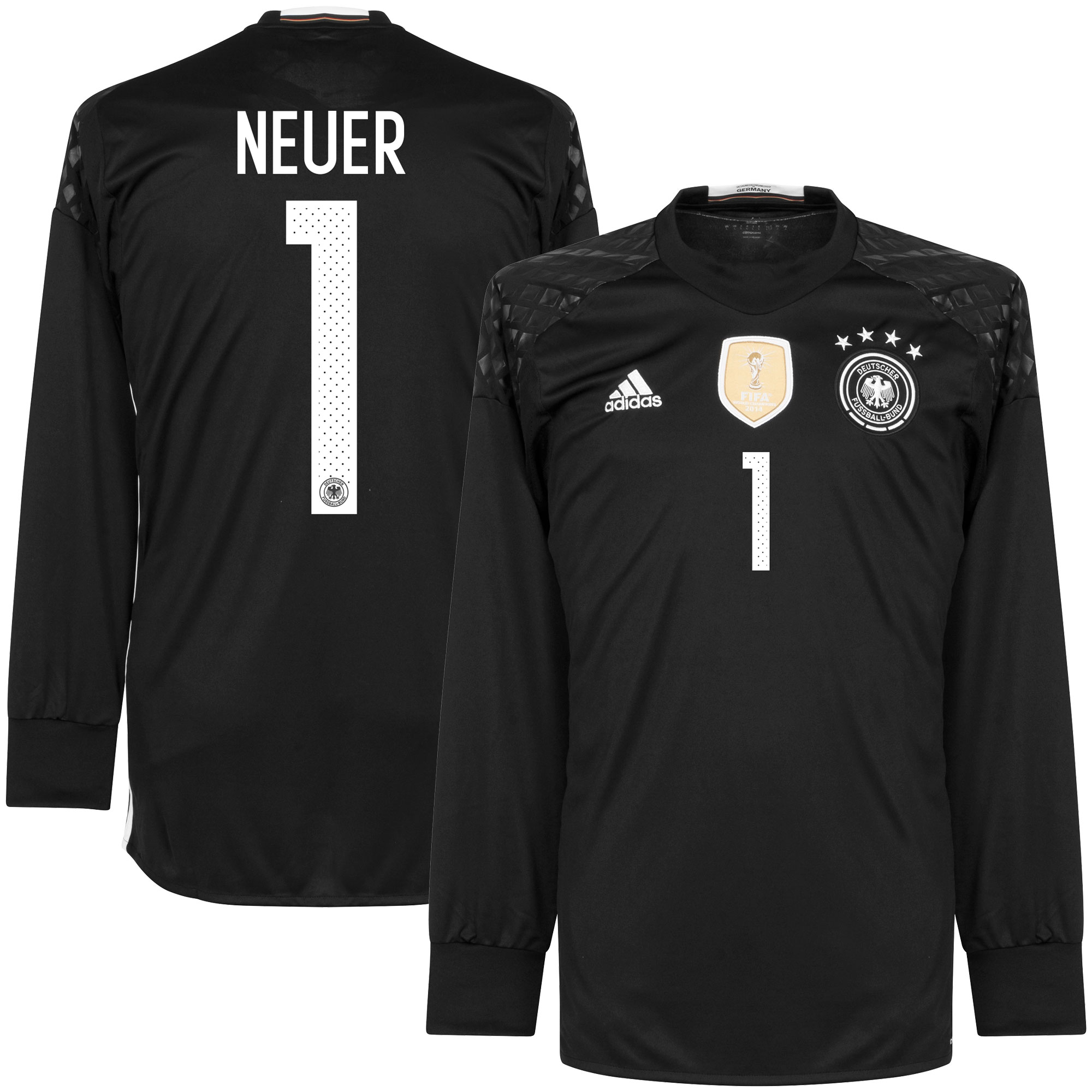 Germany Home Neuer Goalkeeper Jersey 2016 / 2017 - 50