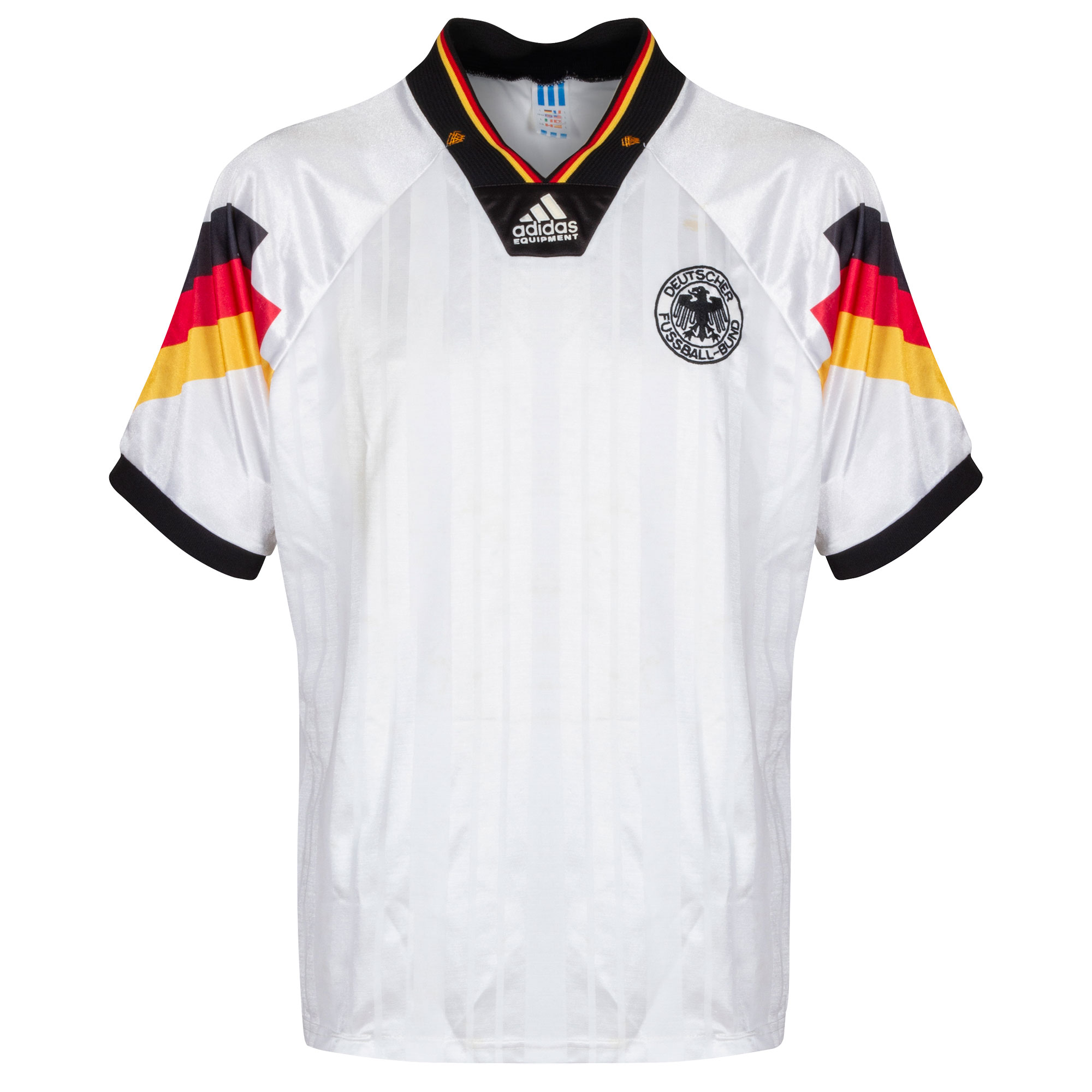 adidas Germany 1992-1994 Home Shirt - USED Condition (Poor) - Size Large