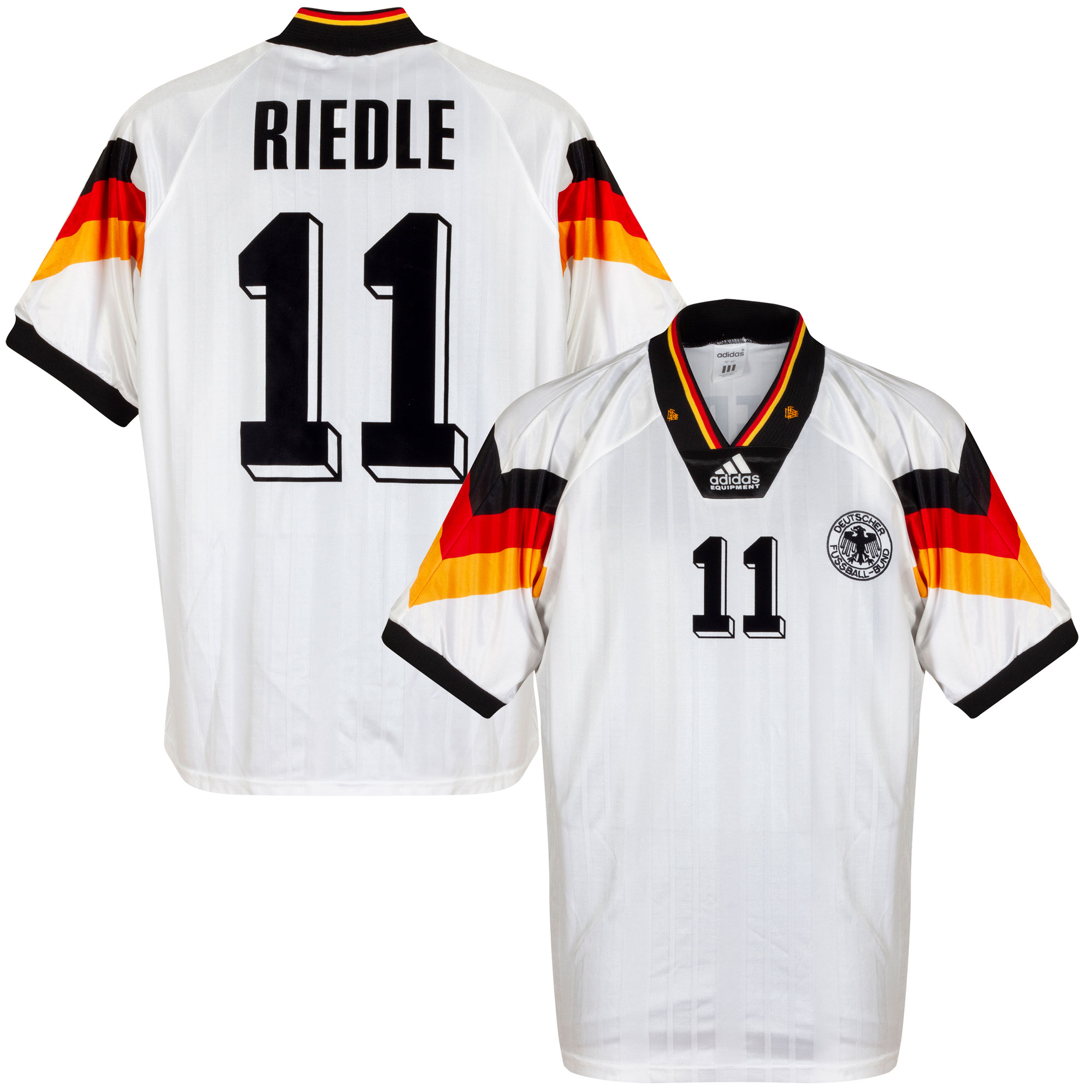 adidas Germany 1992-1994 Home Riedle 11 Shirt - USED Condition (Great) - Size S