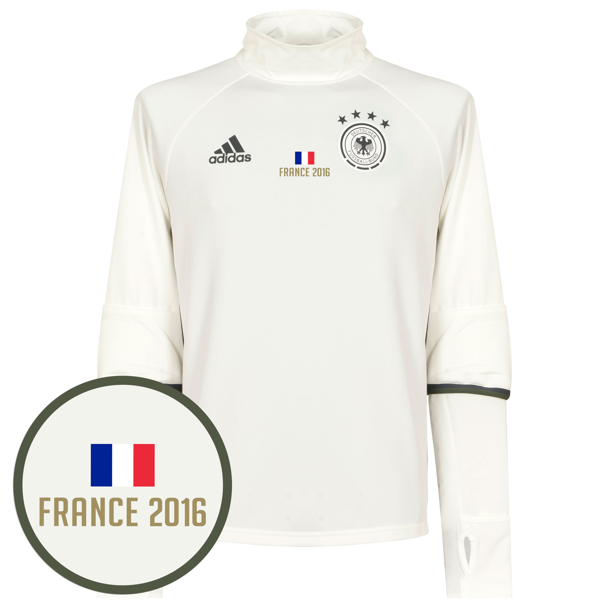 Germany Training Top 2016 / 2017 + FREE France 2016 Transfer - White - 42