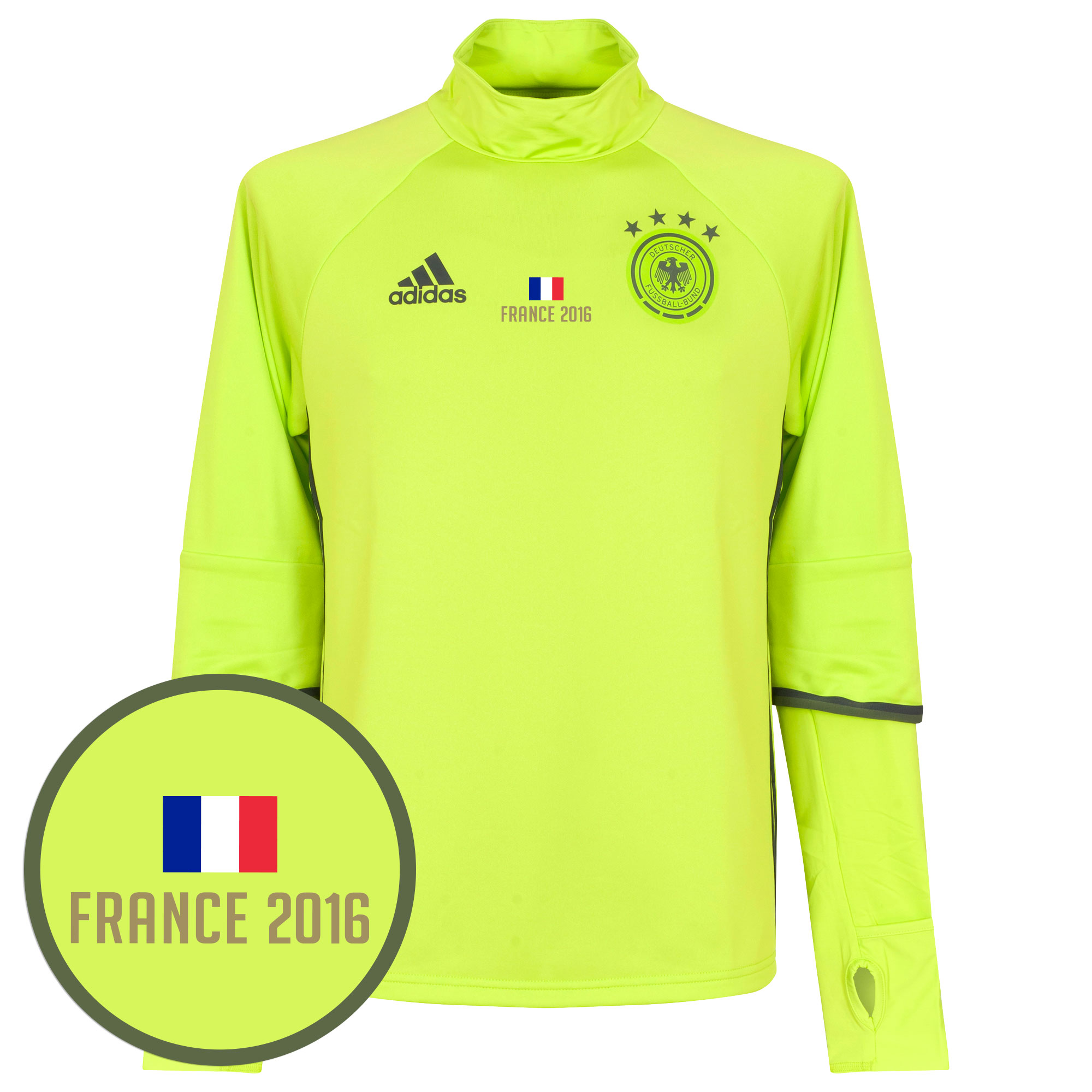 Germany Training Top 2016 / 2017 + Free France 2016 Transfer - Lime - 46